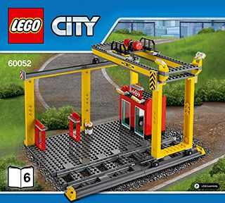 lego city cargo train instructions 60052