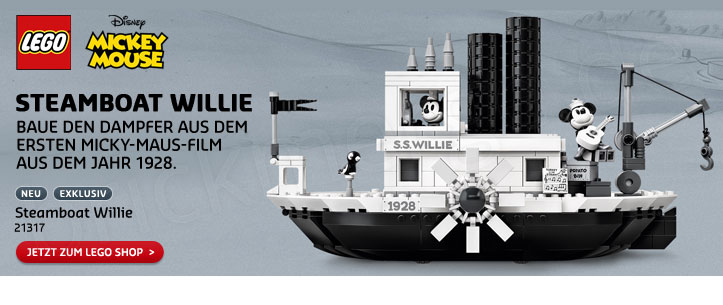 LEGO Ideas 21317 Mickey Mouse Steamboat Willie im LEGO Store kaufen!