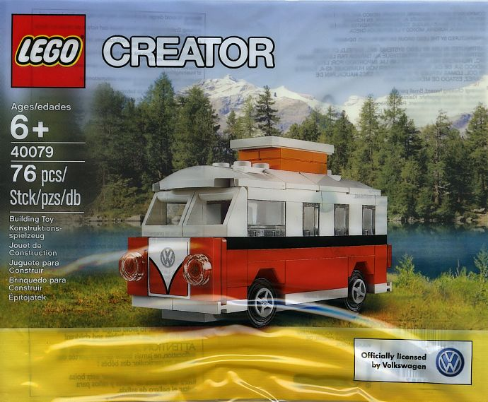 lego 40079 creator vw bus t1 camper van exclusives set. Black Bedroom Furniture Sets. Home Design Ideas