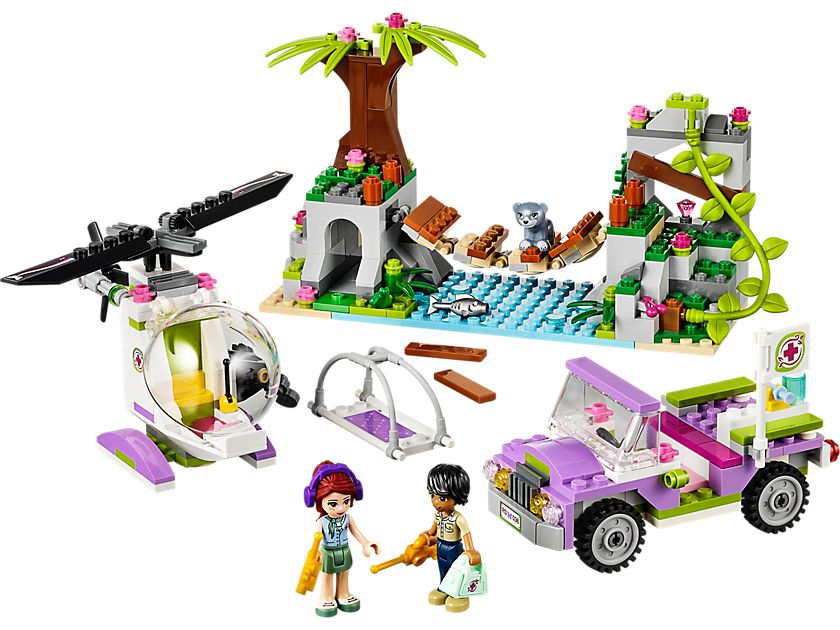 lego 41036 rettung auf der dschungelbr cke friends 2014 jungle bridge rescue brickmerge. Black Bedroom Furniture Sets. Home Design Ideas