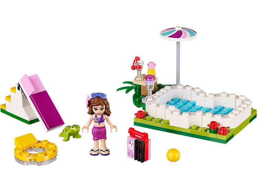 Lego 41090 olivias gartenpool friends 2015 olivia 39 s for Gartenpool set
