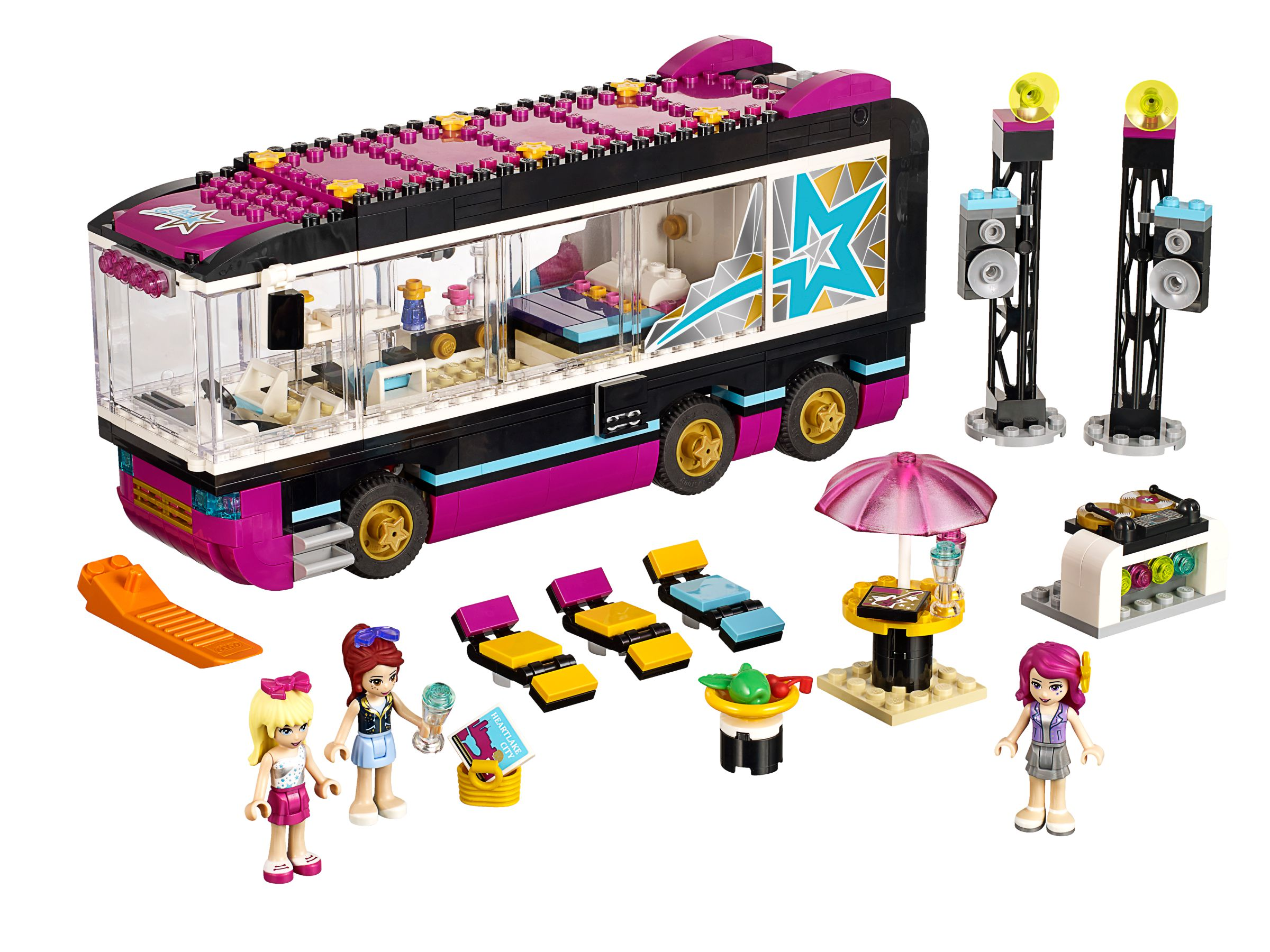 lego 41106 popstar tourbus friends 2015 pop star tour bus brickmerge. Black Bedroom Furniture Sets. Home Design Ideas