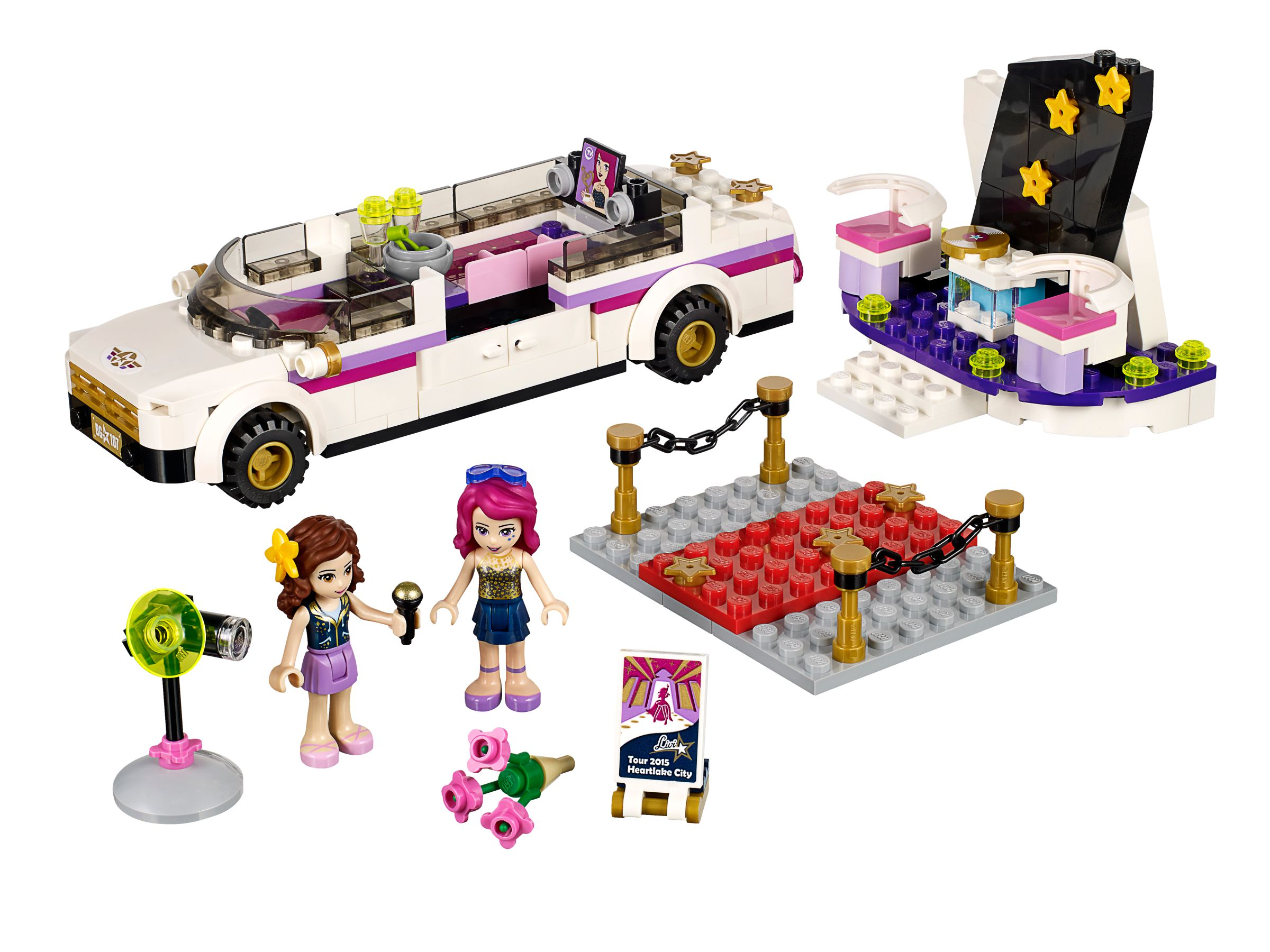 lego friends 41107 popstar limousine brickmerge preisvergleich. Black Bedroom Furniture Sets. Home Design Ideas