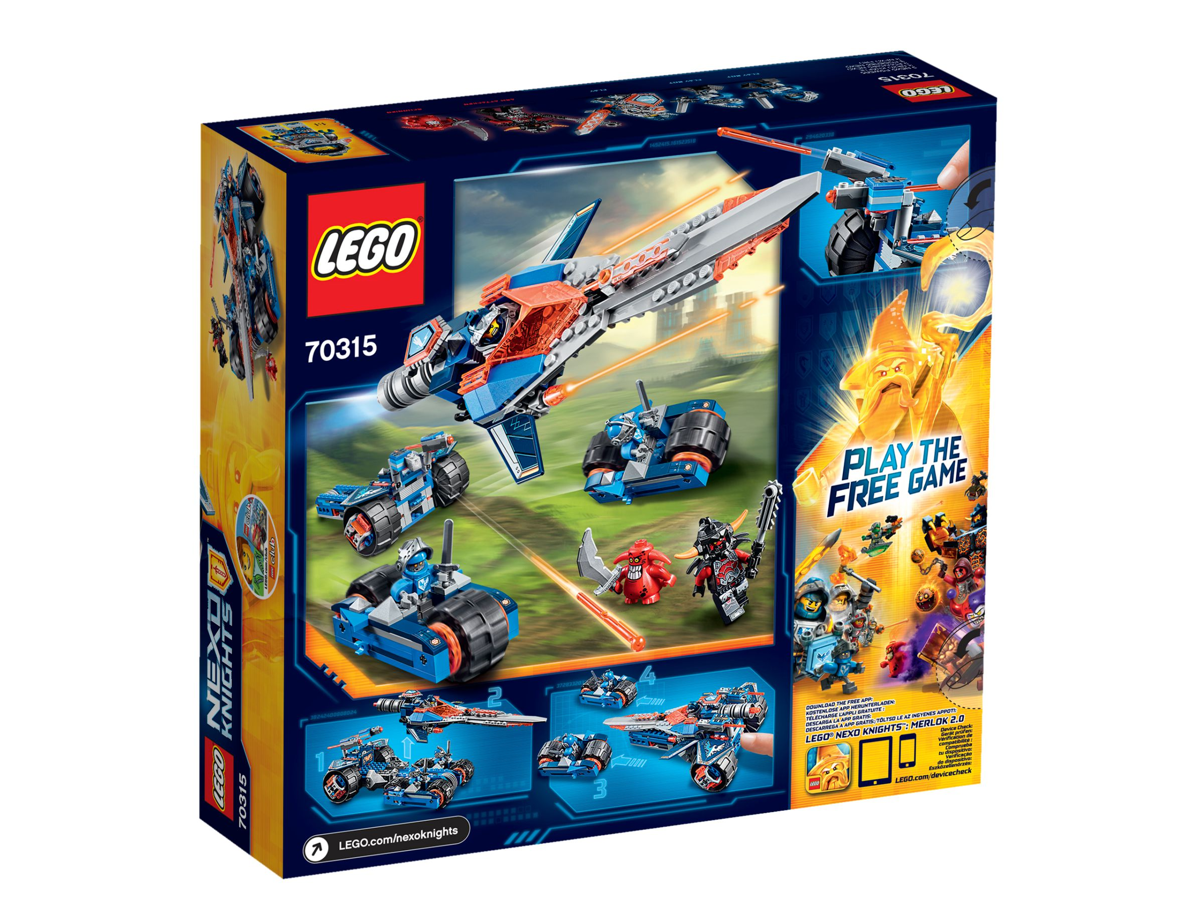 LEGO Nexo Knights 70315 Clays Klingen-Cruiser 70315_backside.jpg