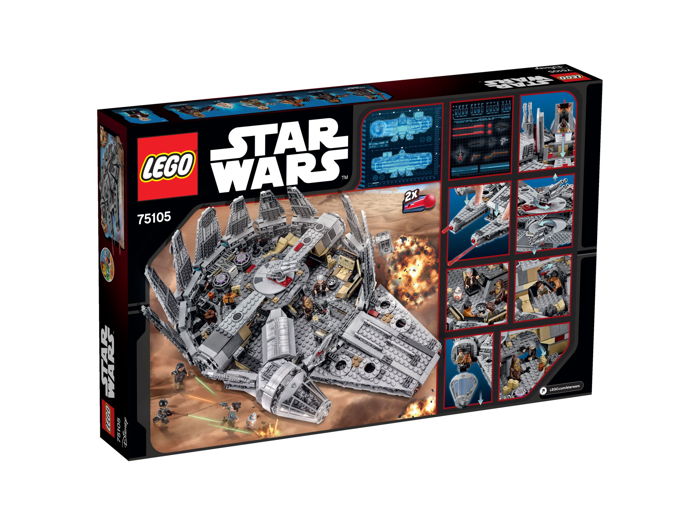 LEGO Star Wars 75105 Millennium Falcon™ 75105_box_back.jpg