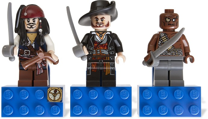 LEGO Gear 853191 Pirates of the Caribbean Magnet Set