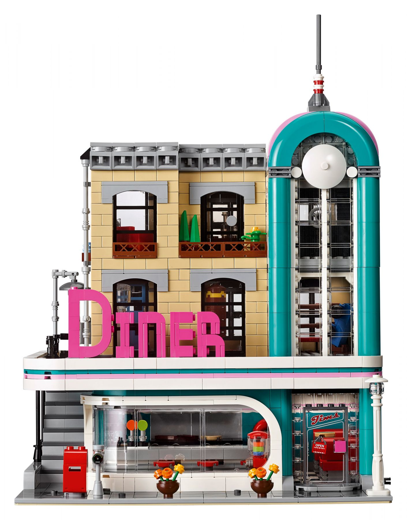 LEGO Advanced Models 10260 Amerikanisches Diner LEGO_10260_Downtown-Diner_Front.jpg