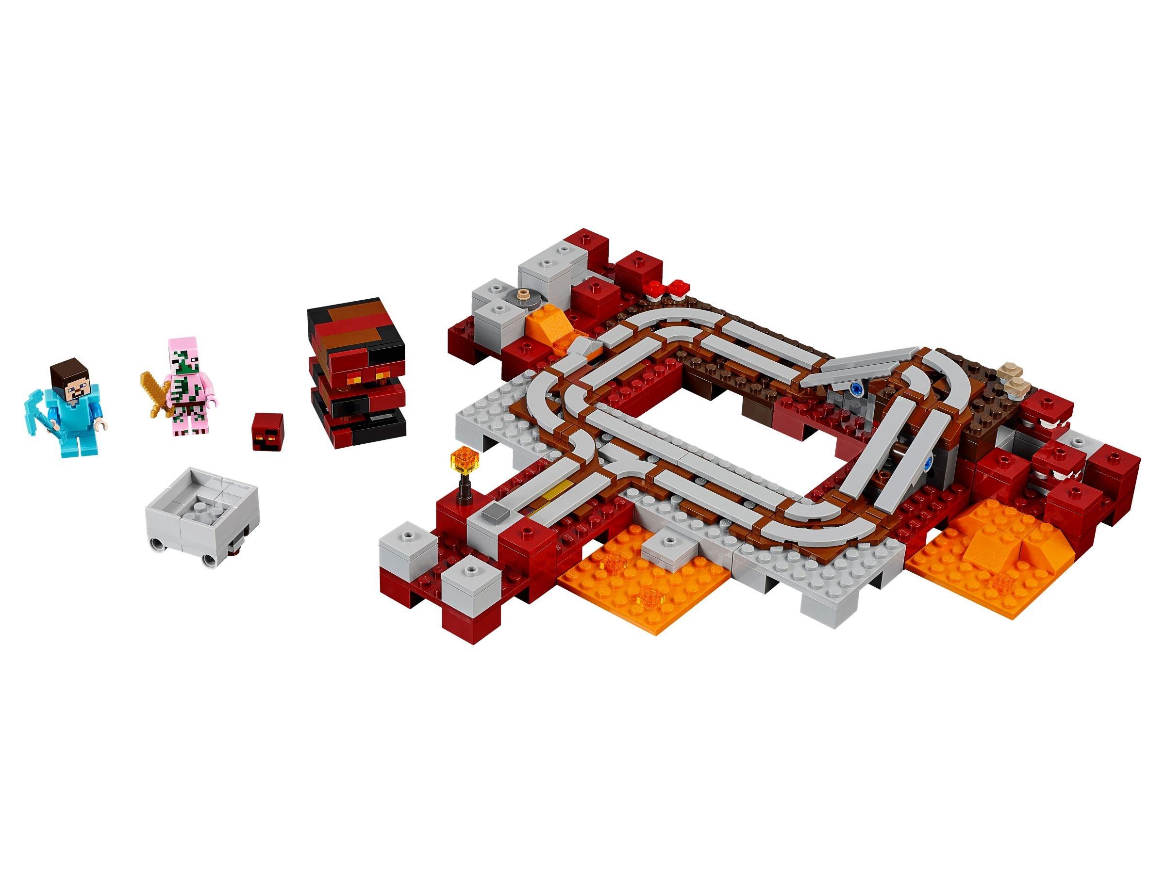 Lego 21134 Unterschlupf Im Wasserfall Minecraft 2017 Secret The Waterfall Base 21130 Die Nether Eisenbahn
