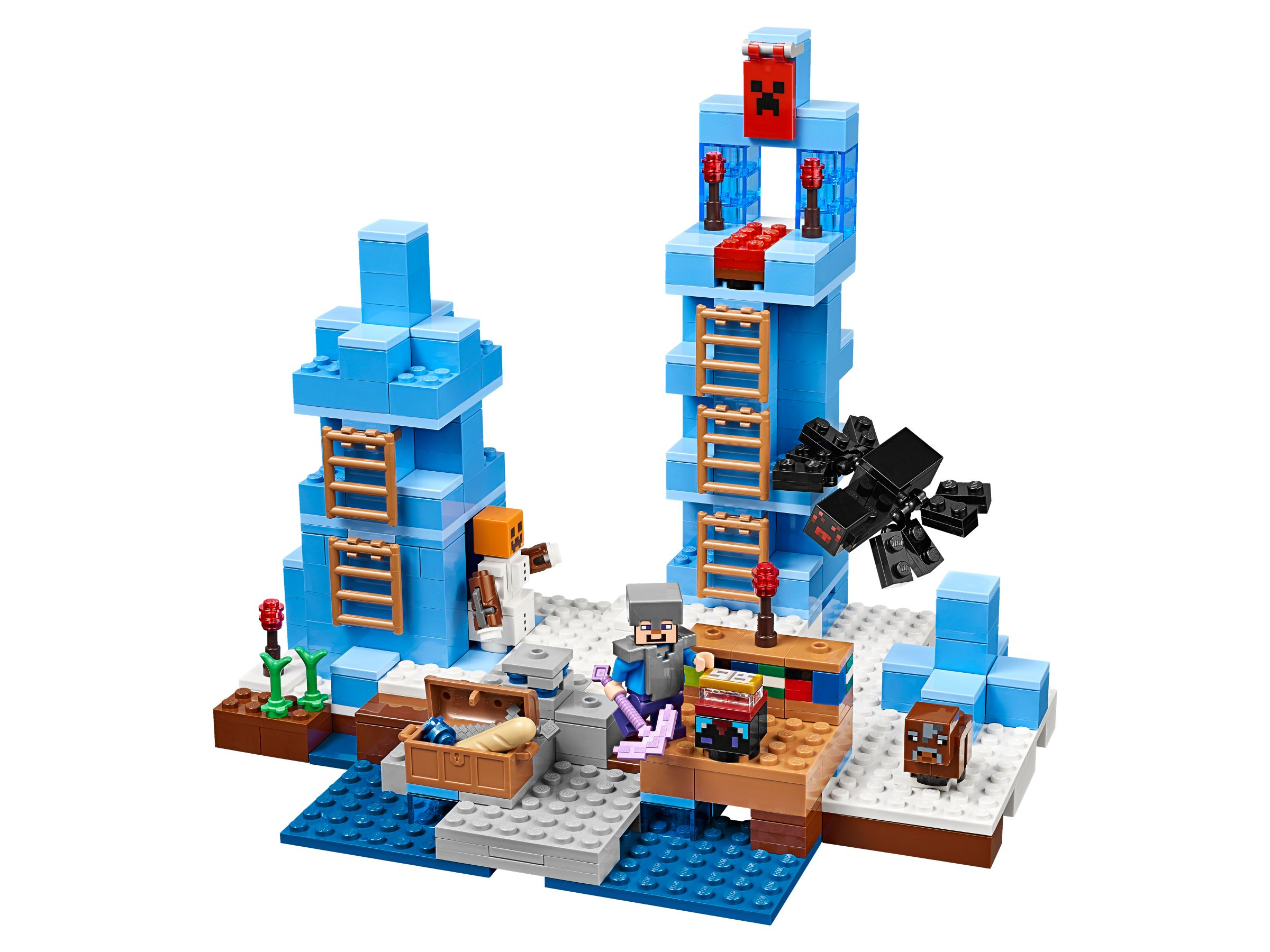 lego 21131 t rme aus eis minecraft 2017 ice towers brickmerge. Black Bedroom Furniture Sets. Home Design Ideas