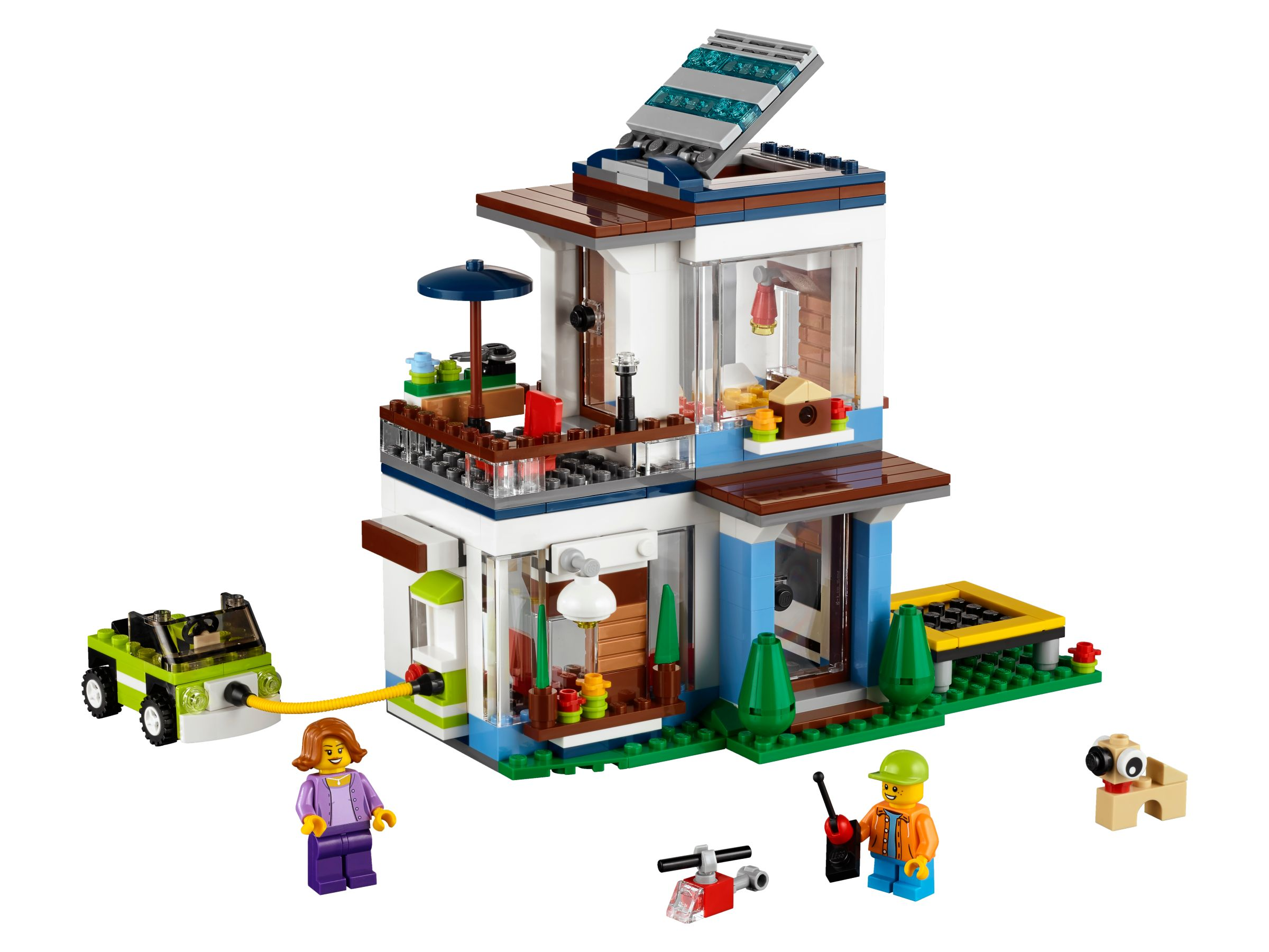 Lego creator 31068 modernes haus lifesteyl for Lego modernes haus
