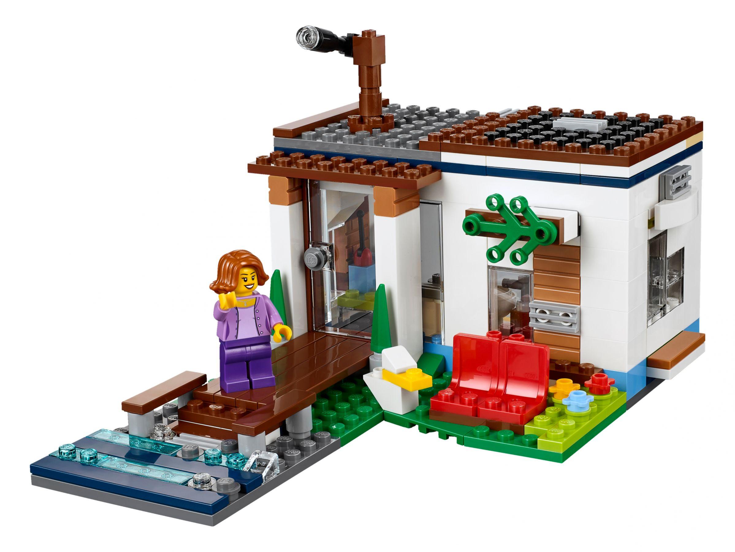 33 ab 23 49 modernes zuhause 31068 lego creator for Lego modernes haus