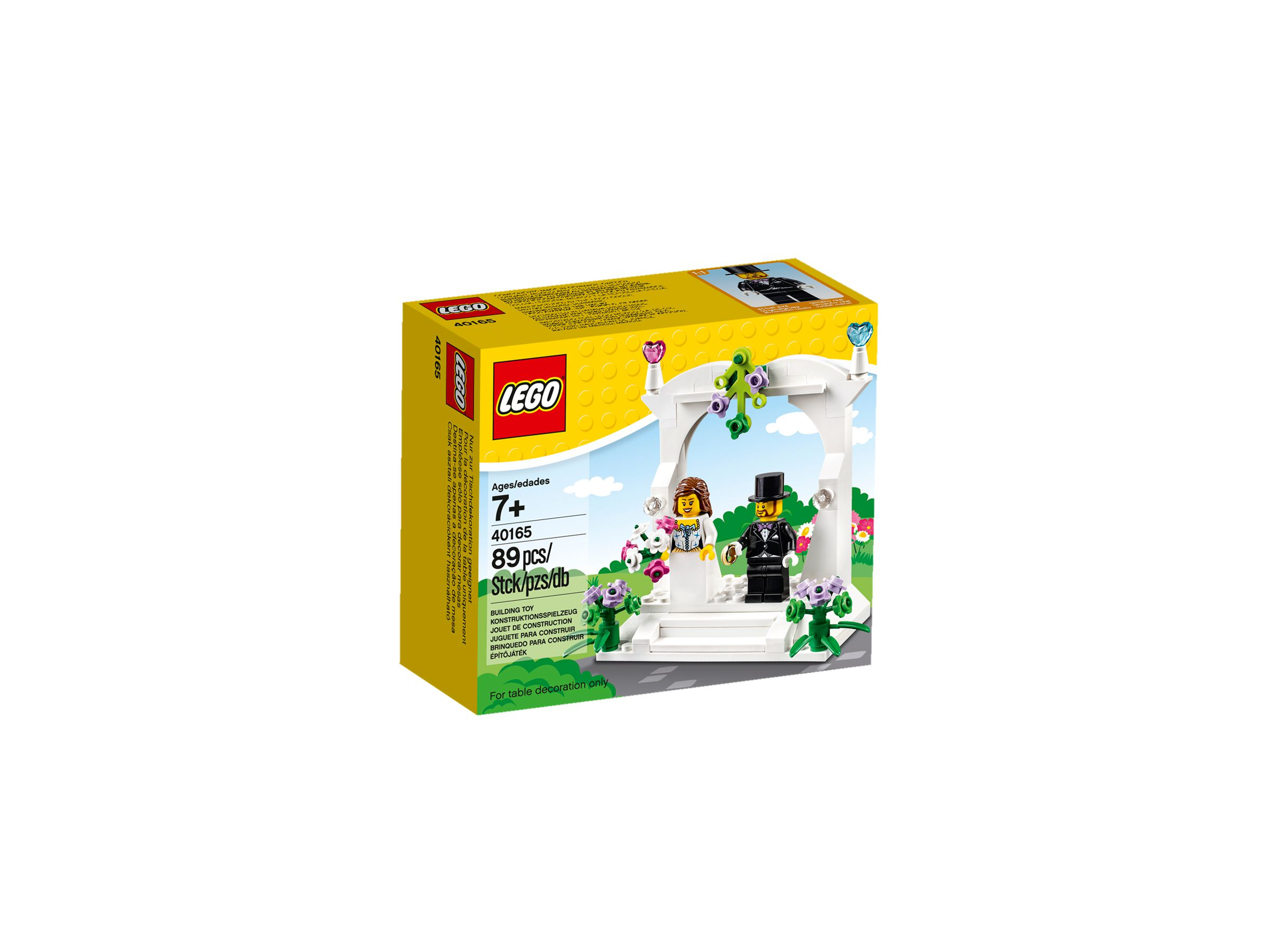 lego 40165 minifiguren hochzeits set 2016 minifigure wedding favour set brickmerge. Black Bedroom Furniture Sets. Home Design Ideas