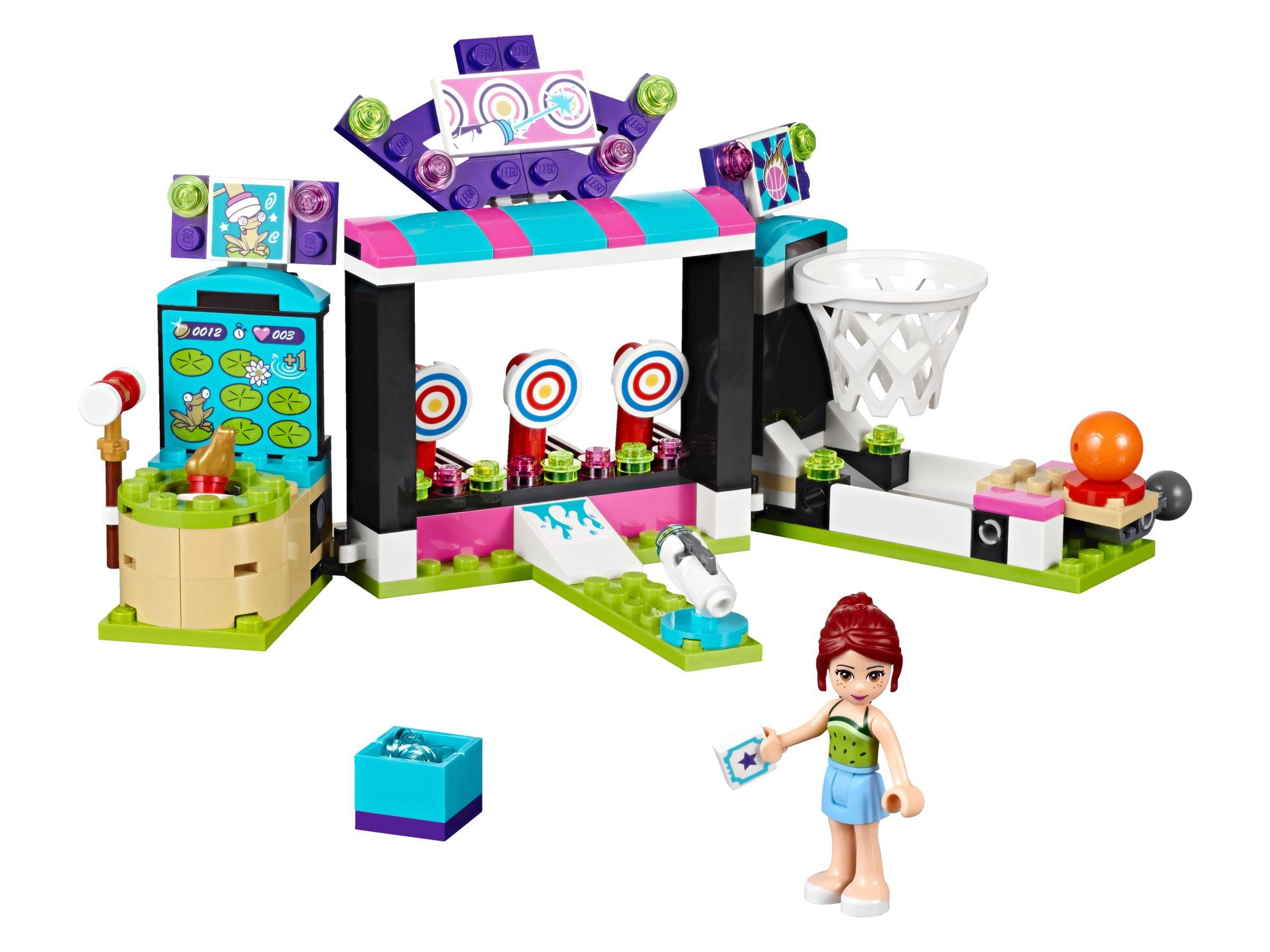 lego 41127 spielspa im freizeitpark friends 2016 amusement park arcade brickmerge. Black Bedroom Furniture Sets. Home Design Ideas