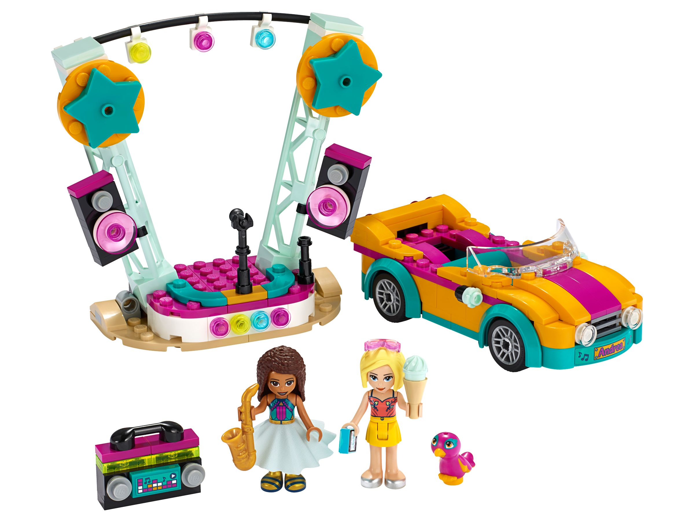 LEGO Friends 41390 Andreas Bühne & Auto