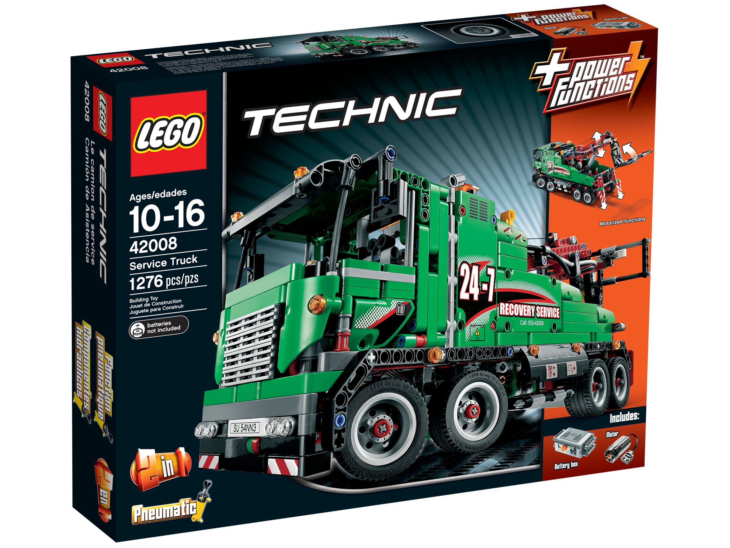 lego 42008 abschlepptruck technic 2013 service truck. Black Bedroom Furniture Sets. Home Design Ideas