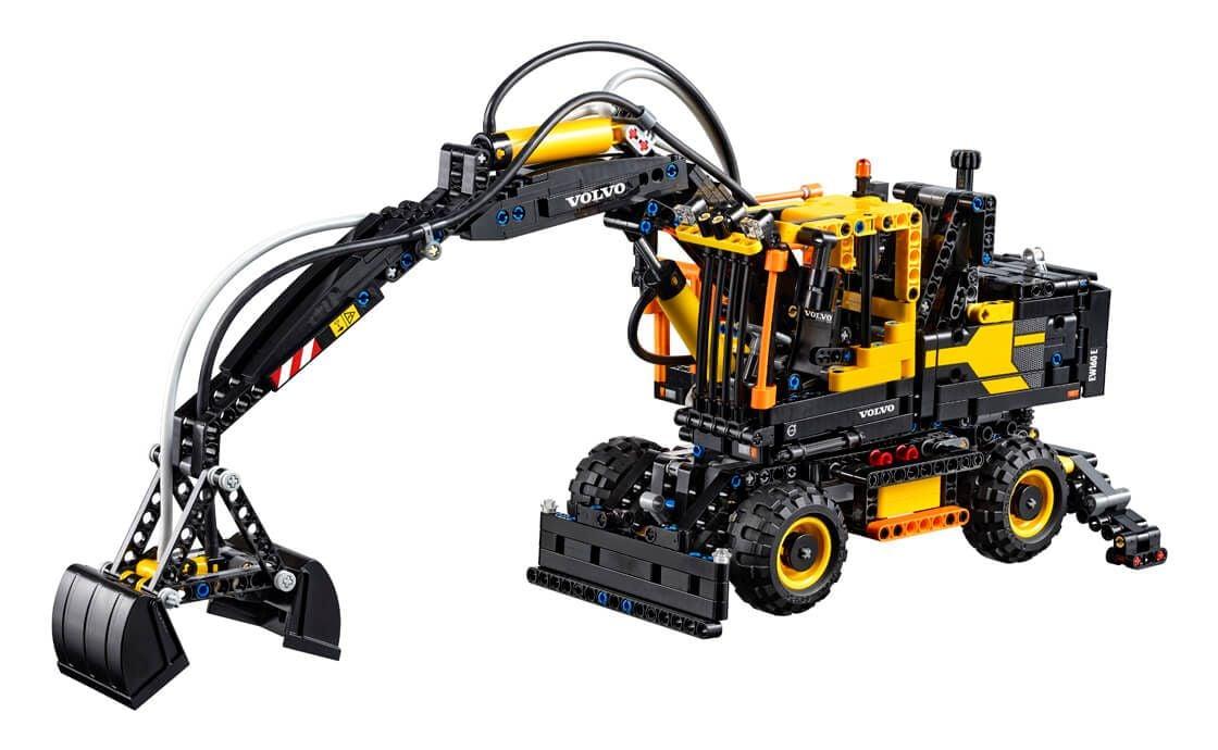 lego 42053 volvo ew 160e bagger technic 2016 volvo ew 160e pneumatic digger brickmerge. Black Bedroom Furniture Sets. Home Design Ideas