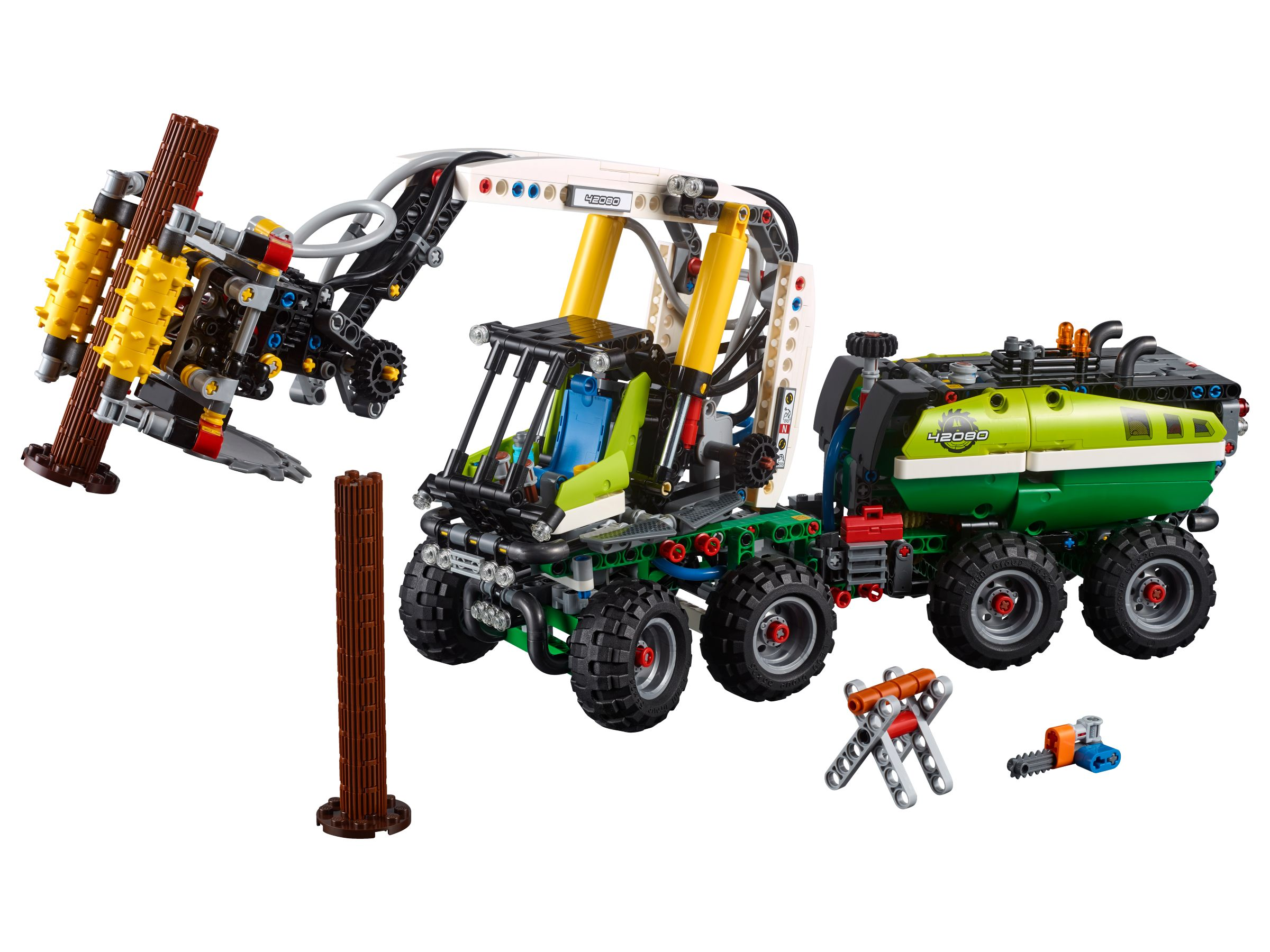 lego 42080 harvester forstmaschine technic 2018 ab 97 97 25 gespart forest harvester. Black Bedroom Furniture Sets. Home Design Ideas