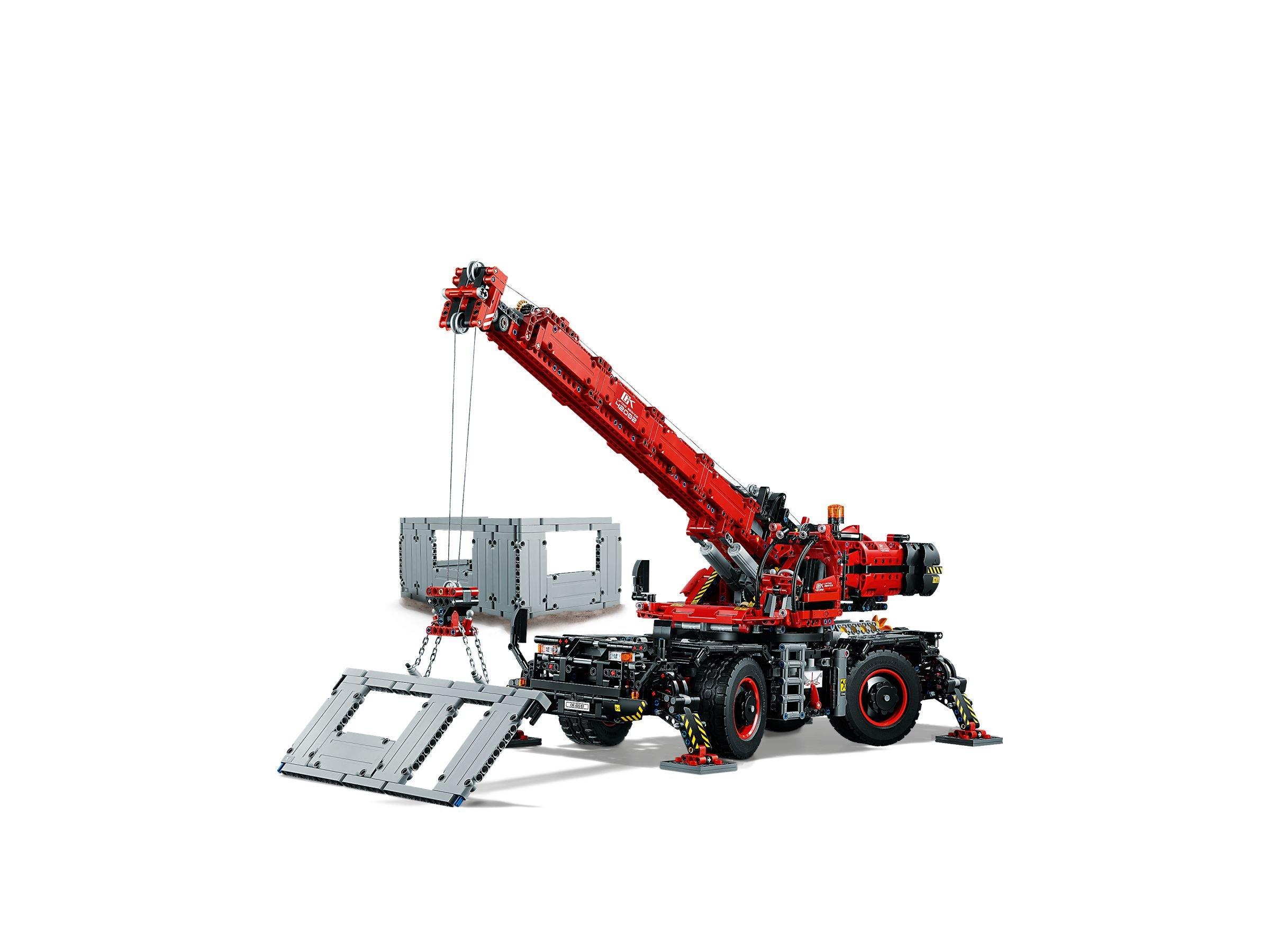 lego 42082 gel ndeg ngiger kranwagen technic 2018 ab 160 19 30 gespart rough terrain. Black Bedroom Furniture Sets. Home Design Ideas