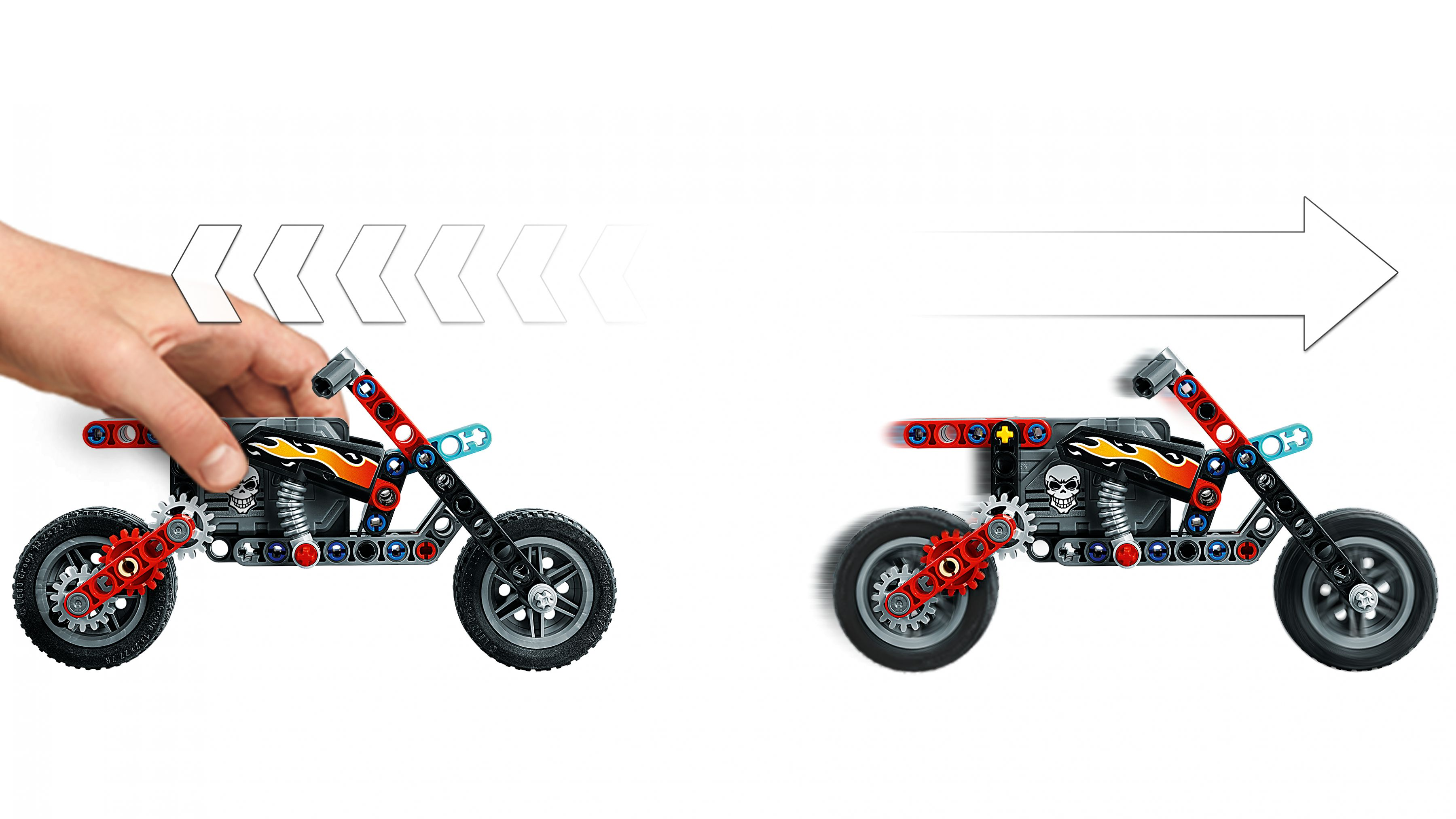 LEGO® Technic 42106 Stunt-Show mit Truck und Motorrad