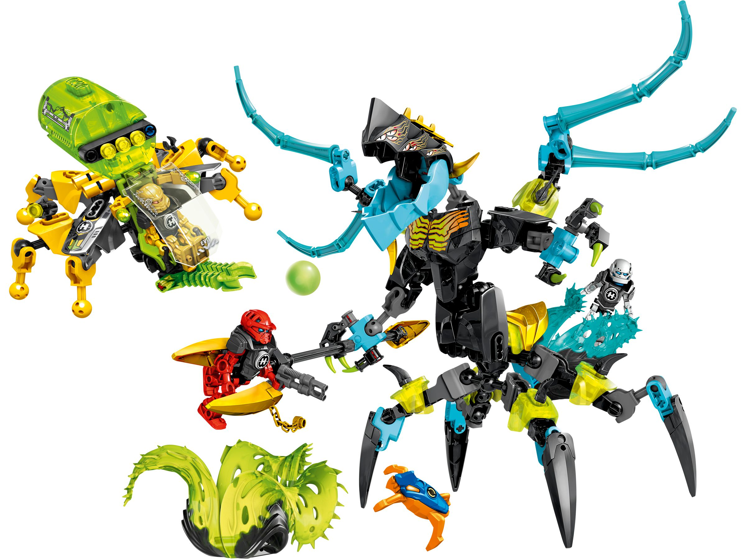 LEGO 44029 HERO Factory QUEEN Beast vs  FURNO, EVO & STORMER (2014)