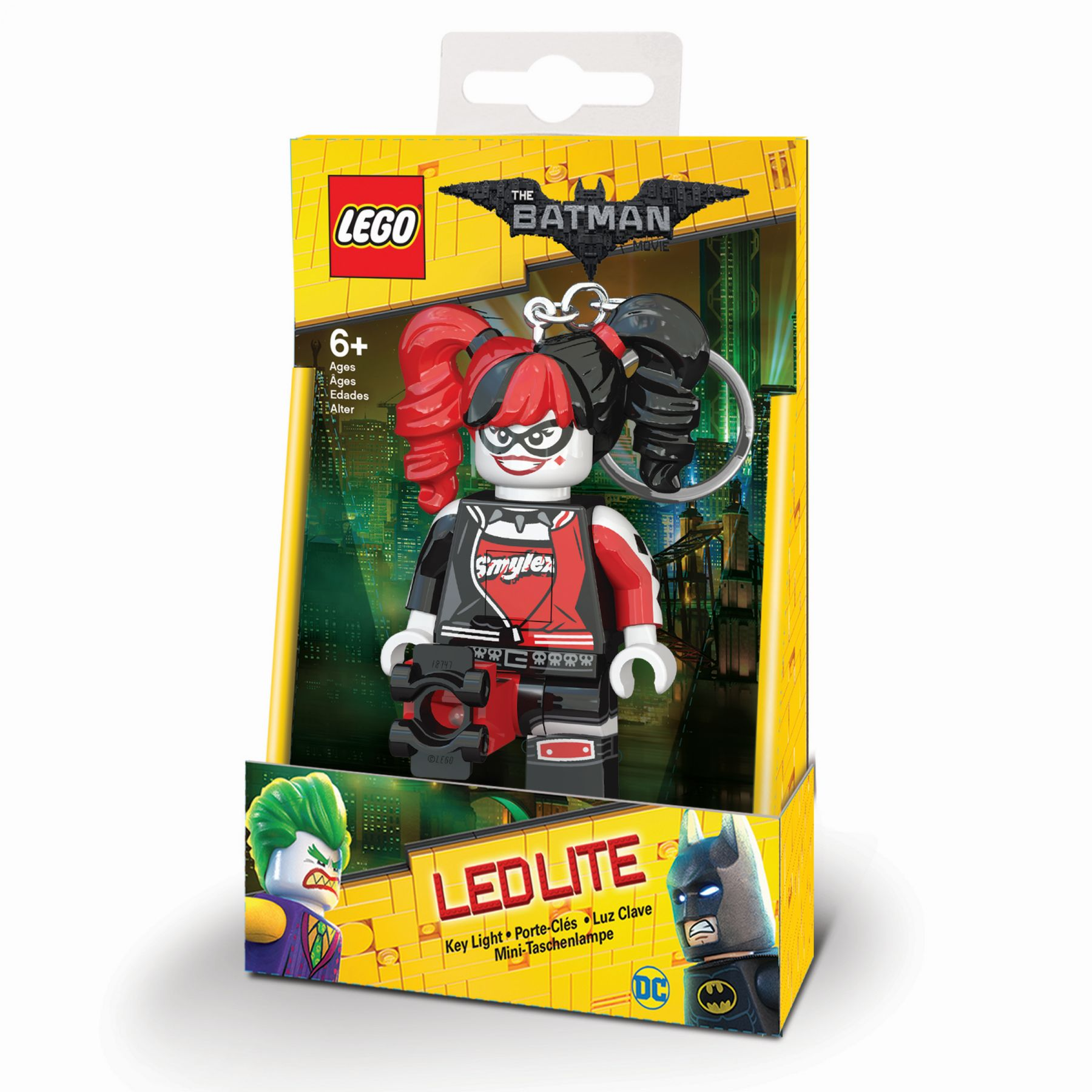 LEGO Gear 5005301 THE LEGO® BATMAN MOVIE – Harley Quinn™ Schlüsselanhänger mit Licht