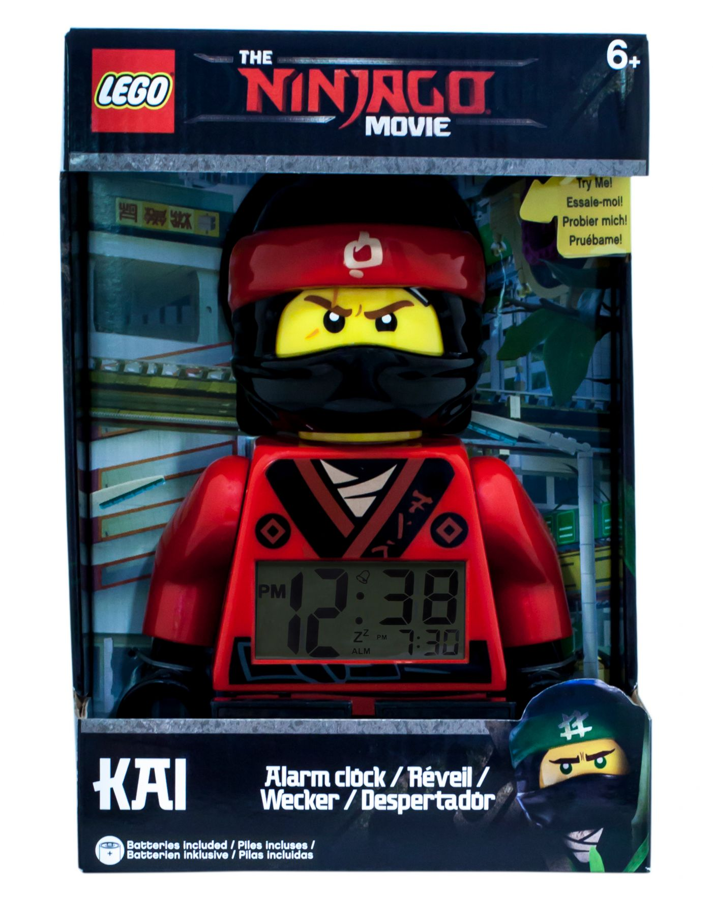 LEGO Gear 5005367 THE LEGO® NINJAGO® MOVIE™ Kai Minifigur-Wecker LEGO_5005367_alt1.jpg