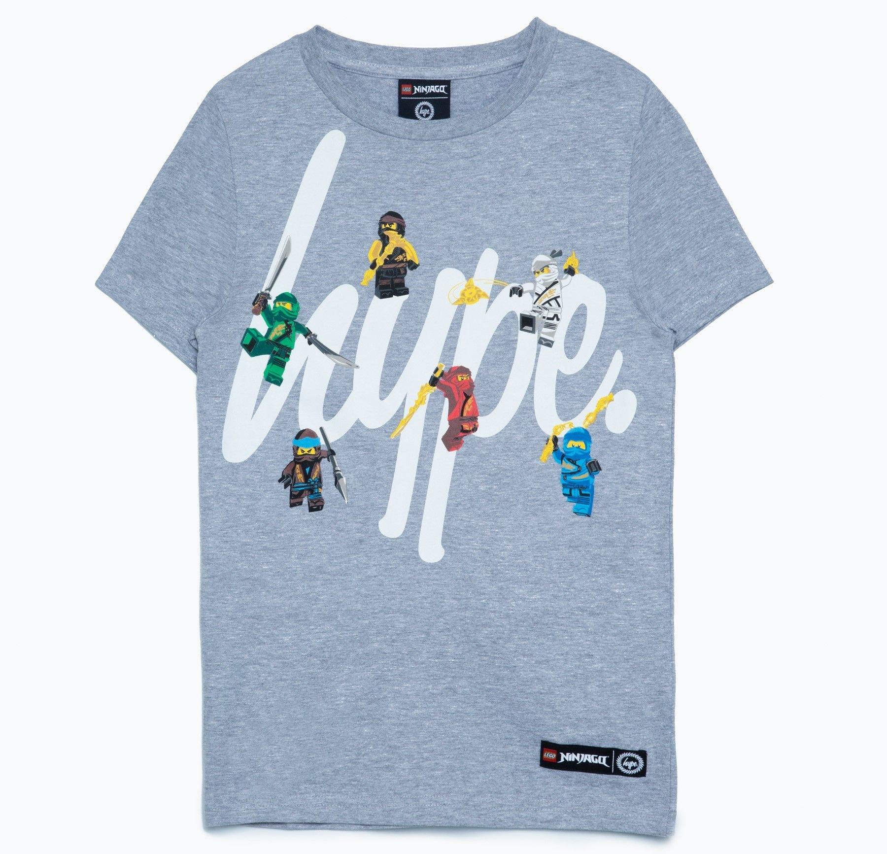 LEGO® Gear 5006224 HYPE X LEGO® NINJAGO® T-Shirt für Kinder, grau