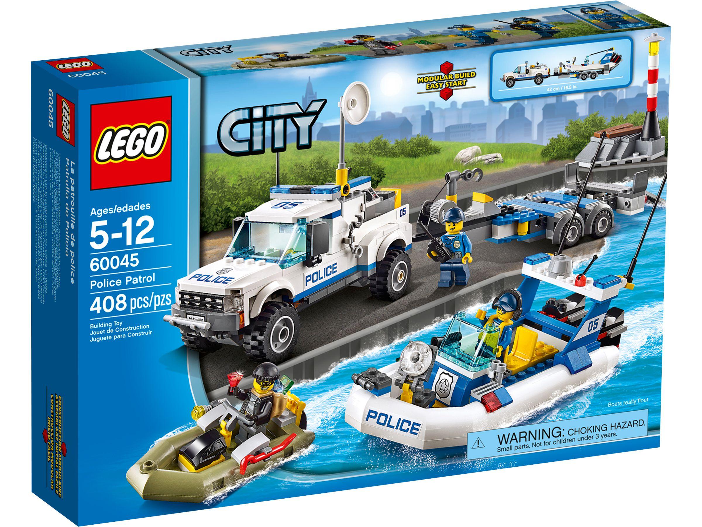 lego® city  polizeiboottransporter 60045 2014  lego