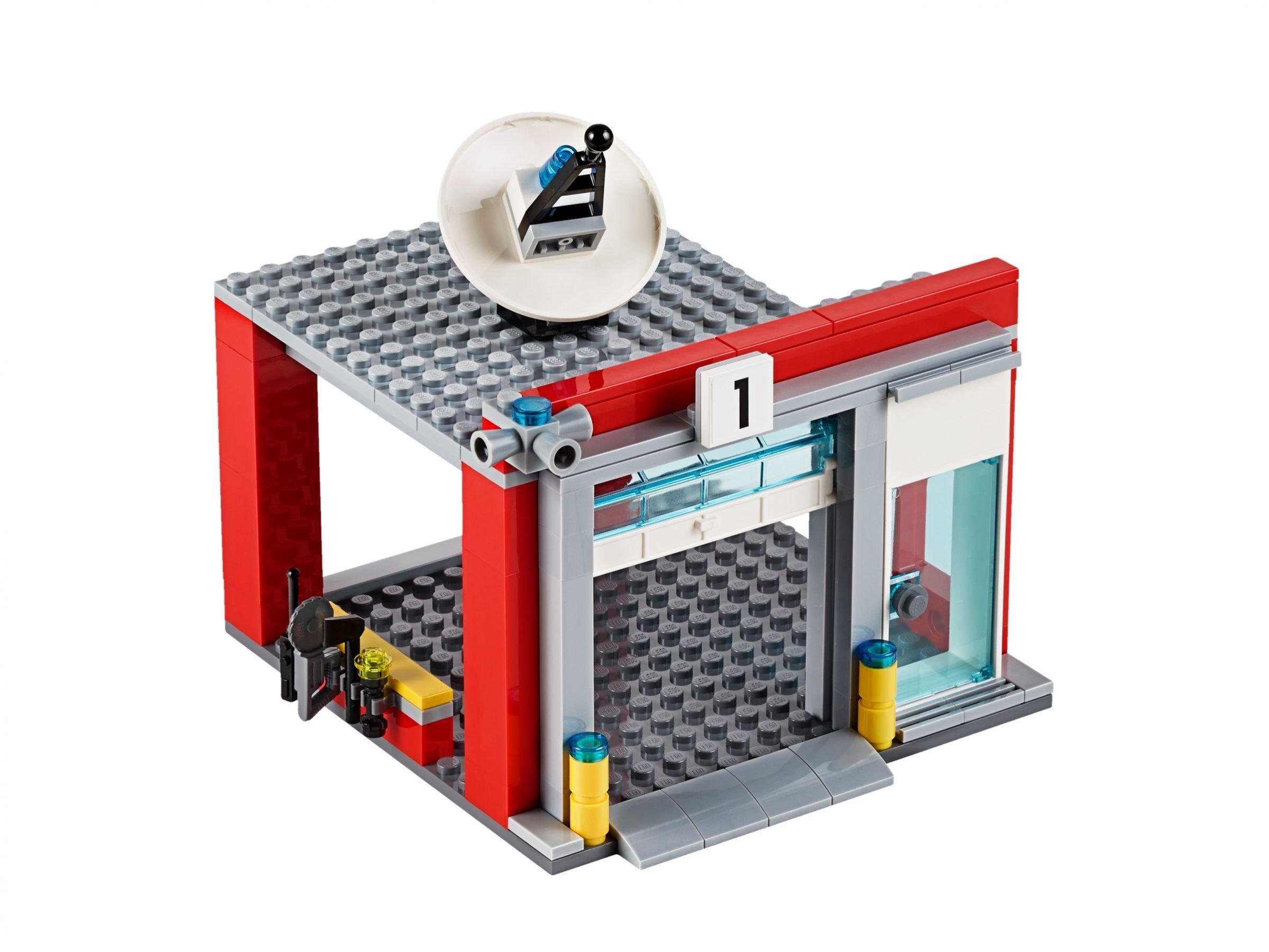 Lego City Garage : Lego große feuerwehrstation city ab u ac