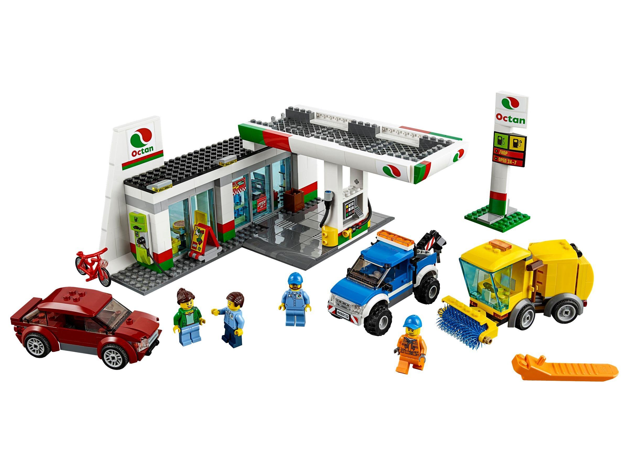 Lego 60130 Polizeiquartier Auf Der Gefngnisinsel City 2016 Police Prison Island 60132 Tankstelle