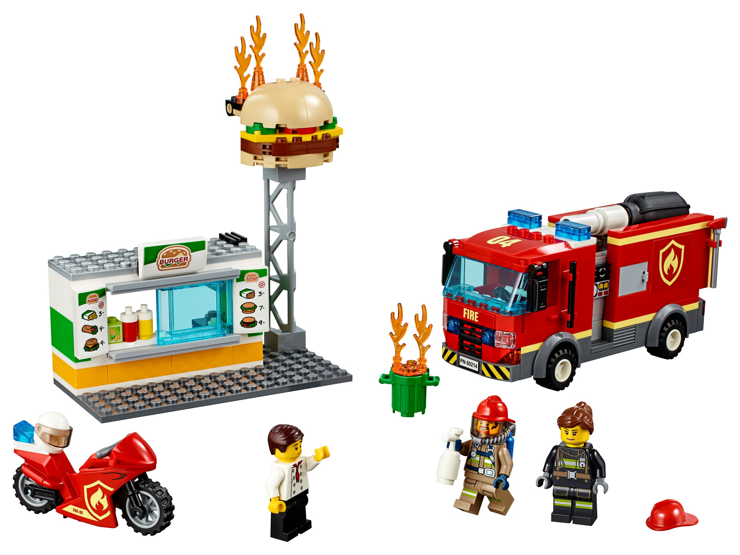 LEGO 60214 City Feuerwehreinsatz im Burger-Restaurant (2019)   Burger Bar  Fire Rescue