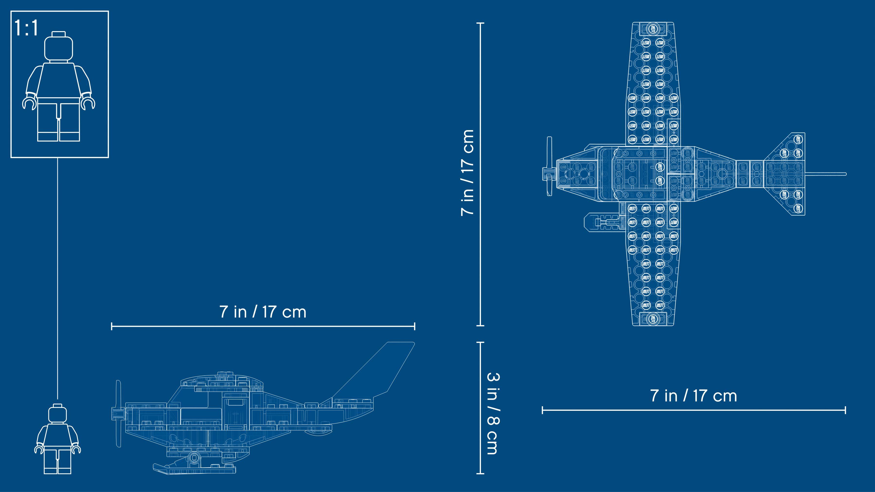 LEGO® City 60250 Post-Flugzeug