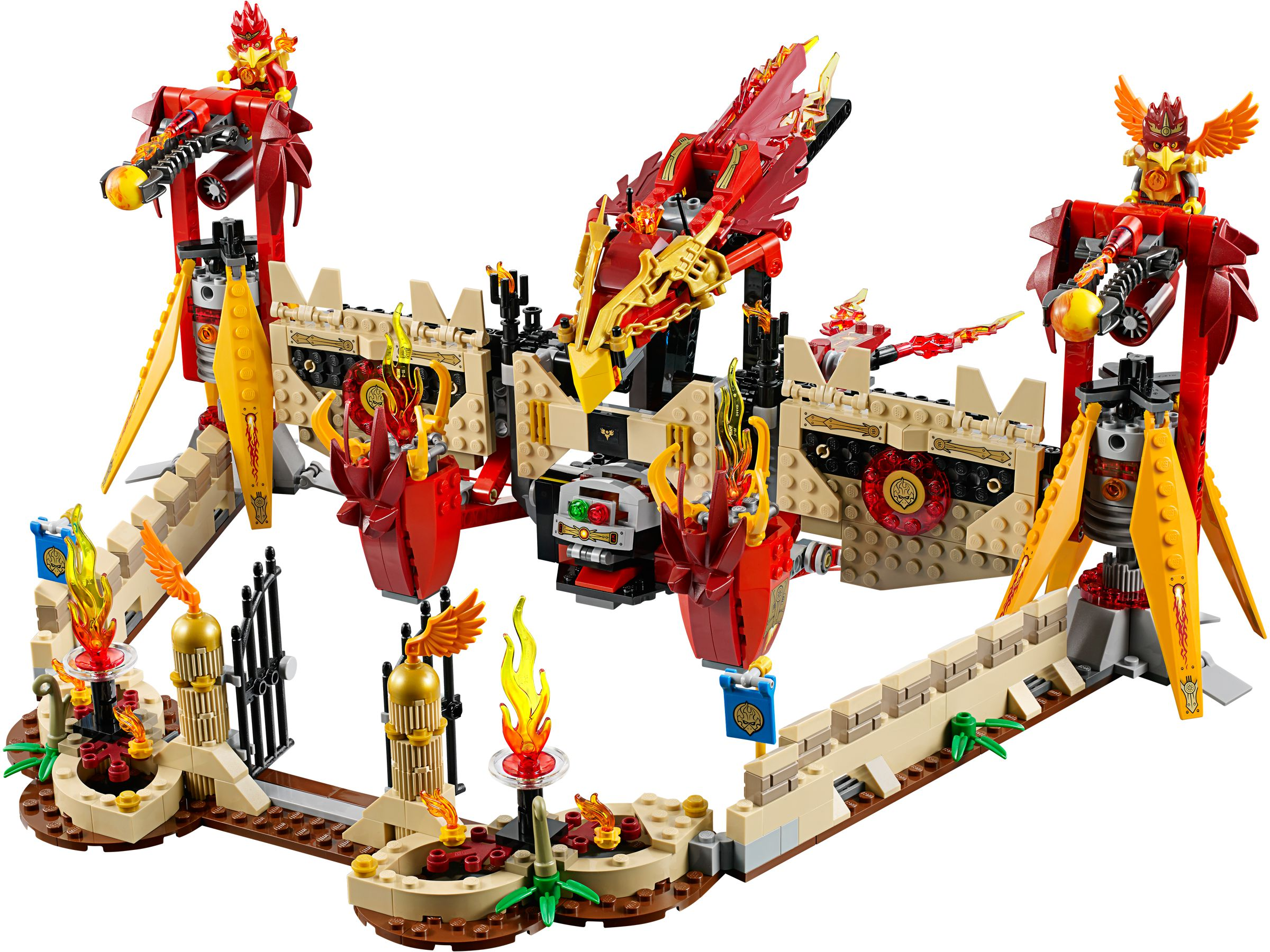 Lego 70146 phoenix fliegender feuertempel legends of chima 2014 flying phoenix fire temple - Image de lego chima ...