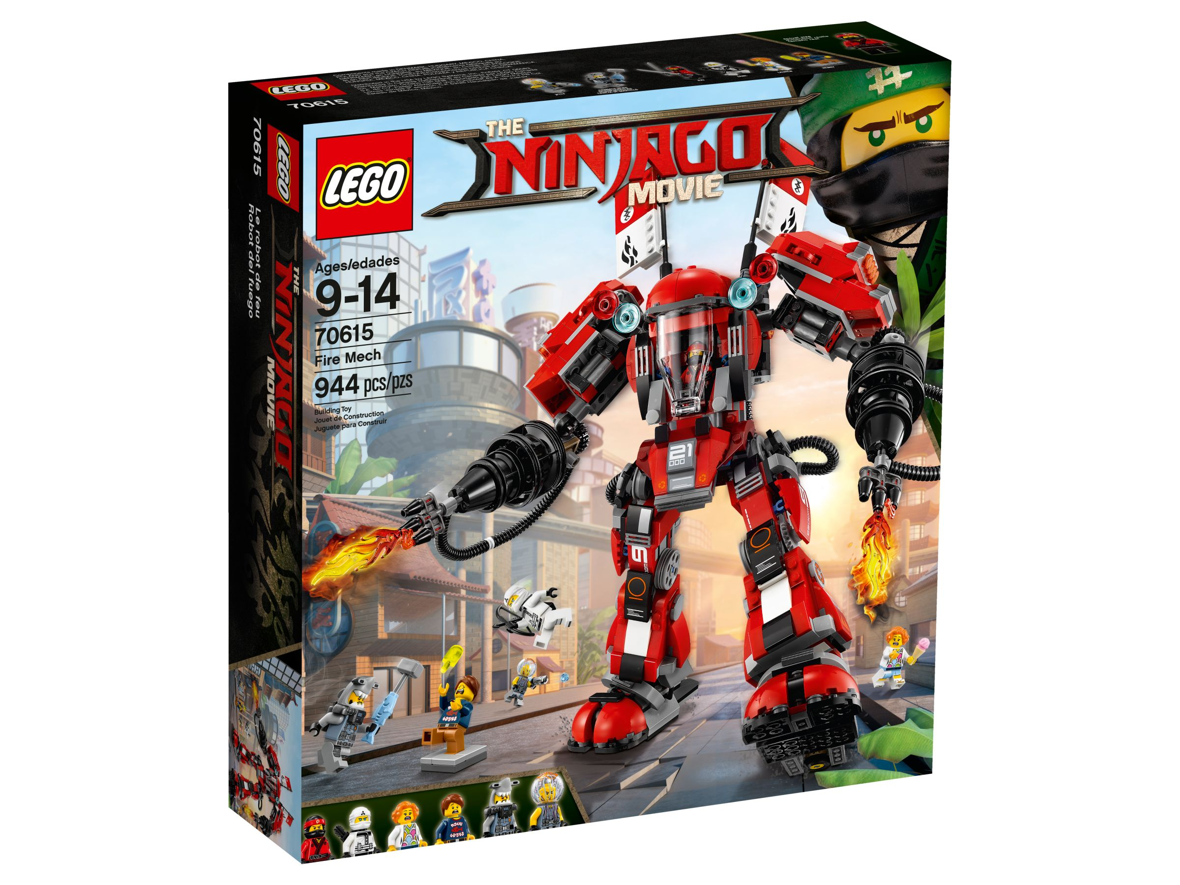LEGO The LEGO Ninjago Movie 70615 Kai's Feuer-Mech LEGO_70615_alt1.jpg