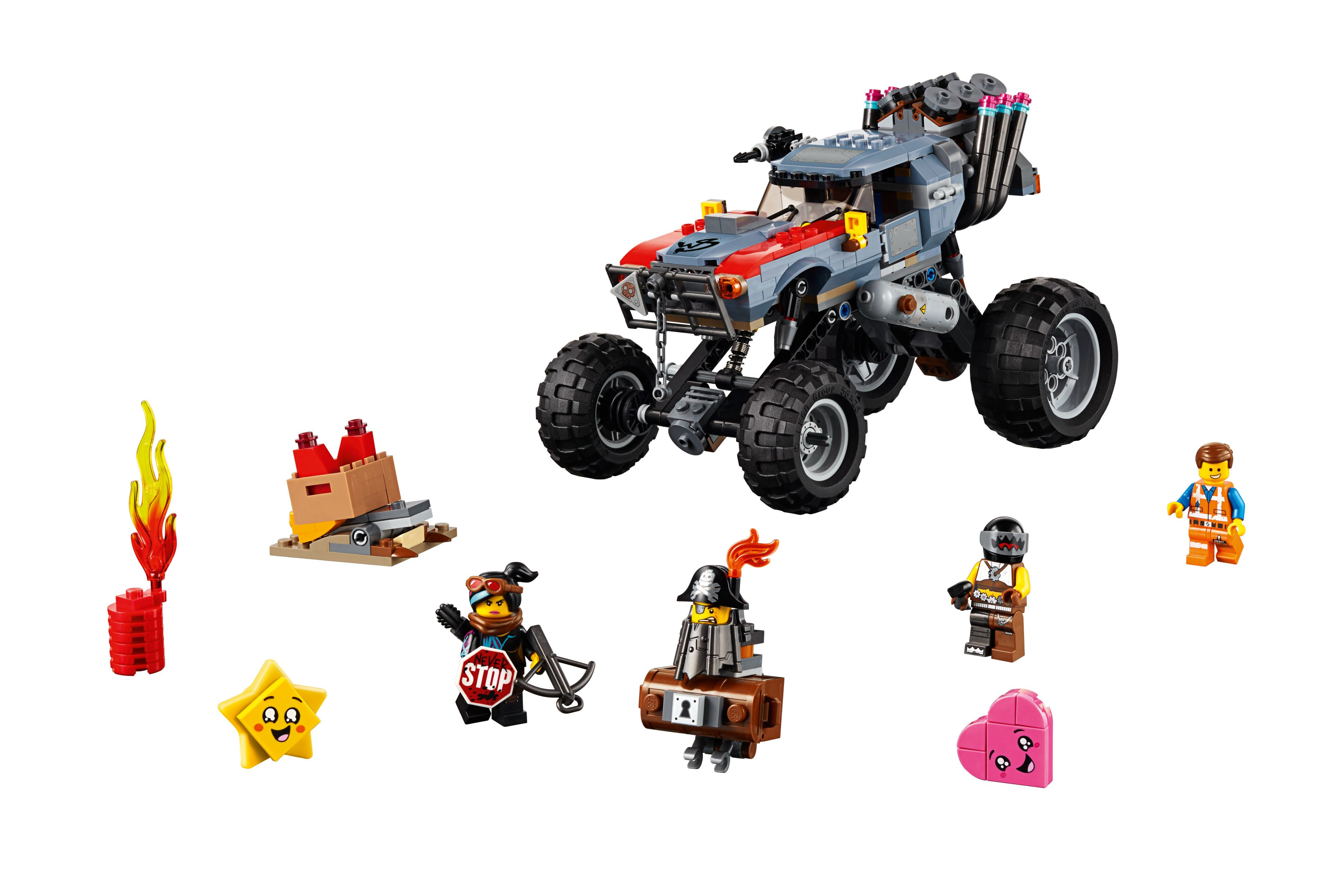 LEGO The LEGO Movie 2 70829 Emmets und Lucys Flucht-Buggy!