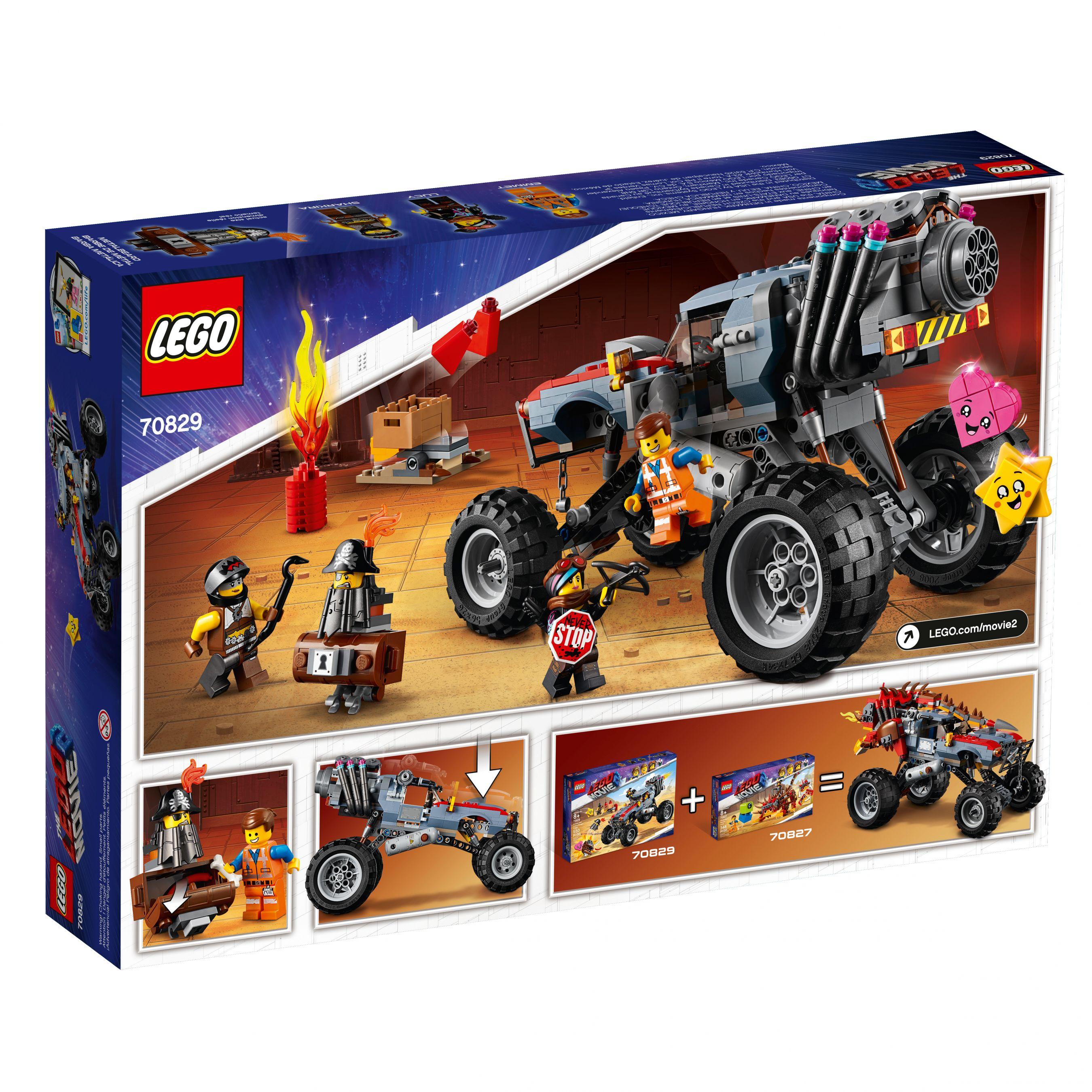 LEGO The LEGO Movie 2 70829 Emmets und Lucys Flucht-Buggy! LEGO_70829_alt2.jpg