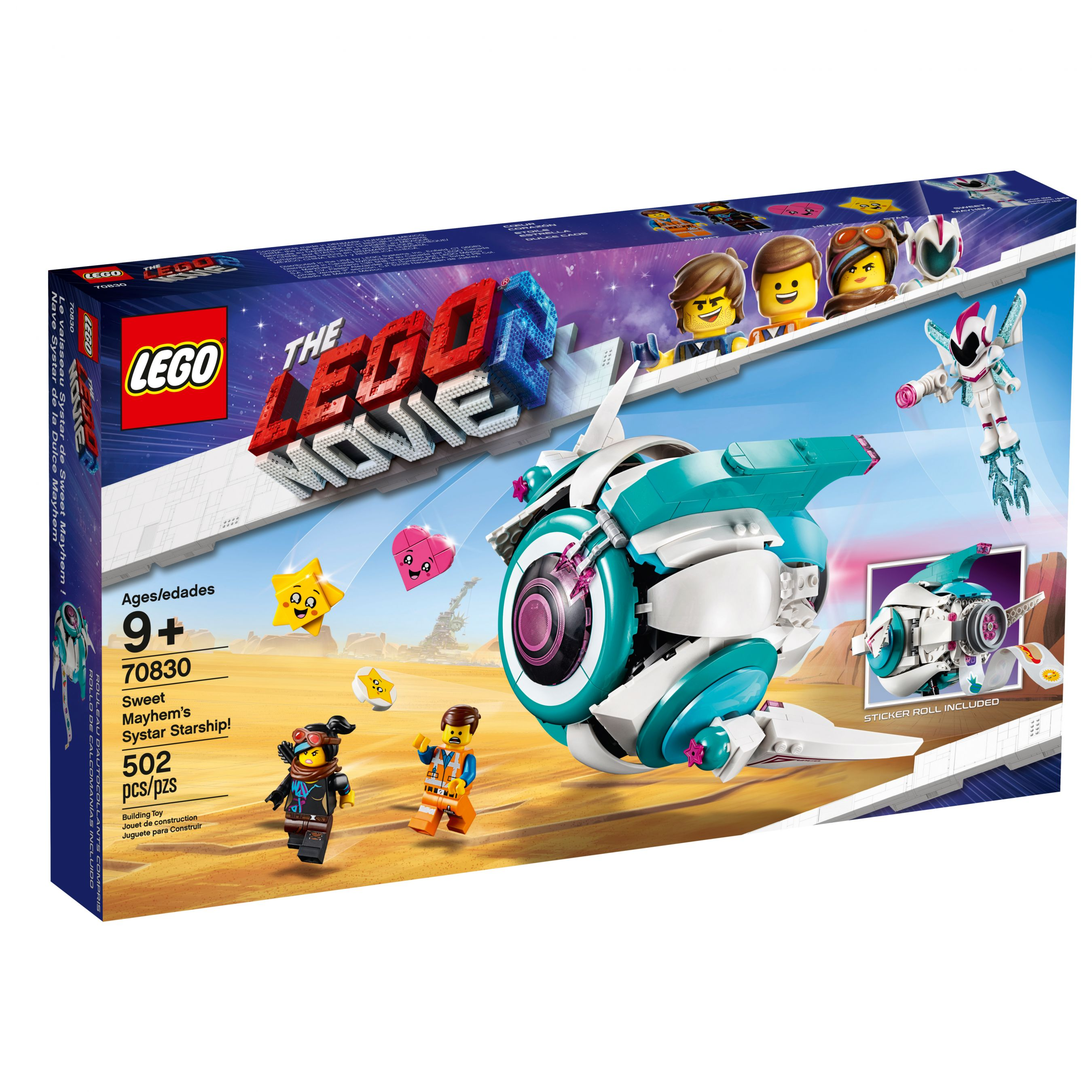 LEGO The LEGO Movie 2 70830 Sweet Mischmaschs Schwester-Raumschiff LEGO_70830_alt1.jpg