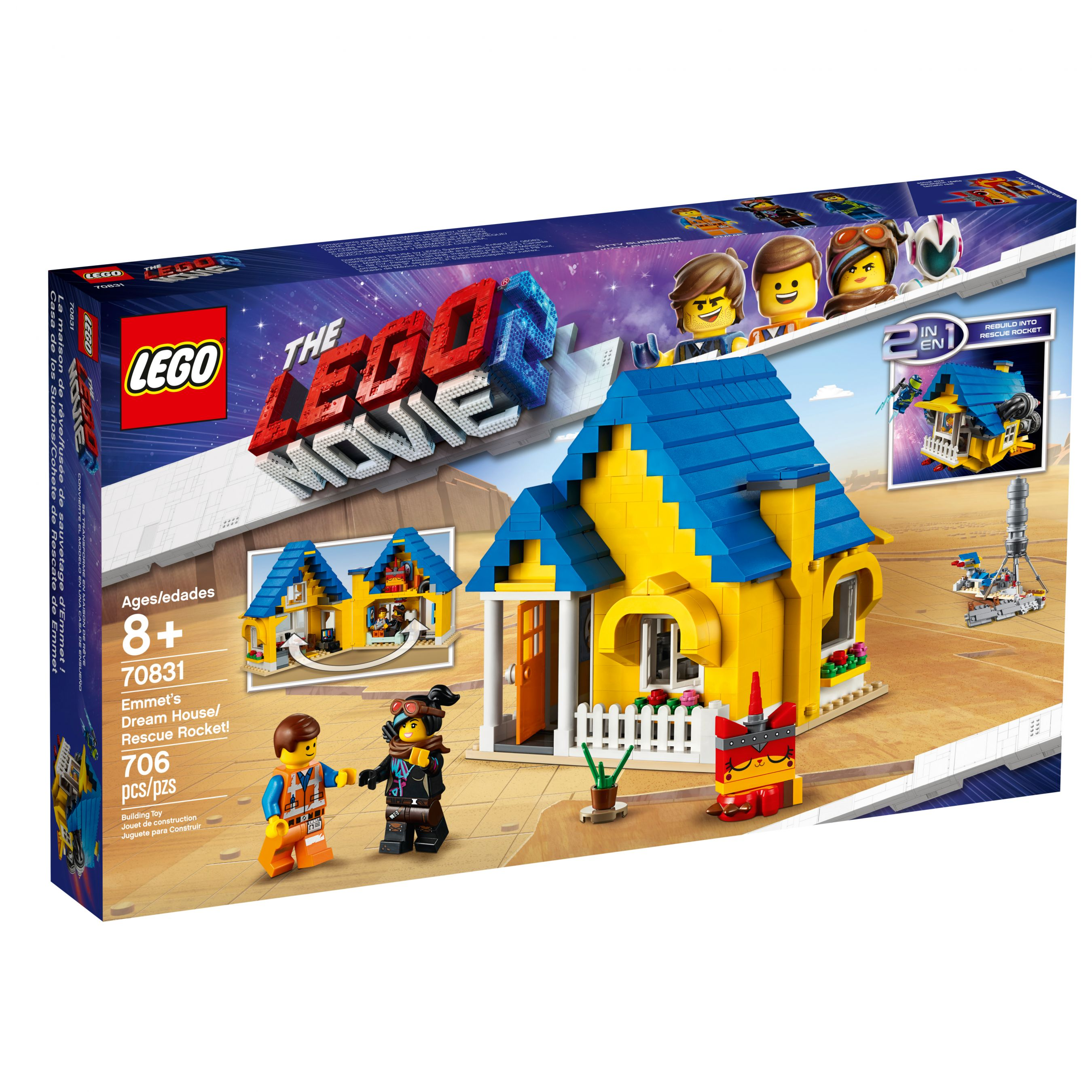LEGO The LEGO Movie 70831 Emmets Traumhaus/Rettungsrakete! LEGO_70831_alt1.jpg
