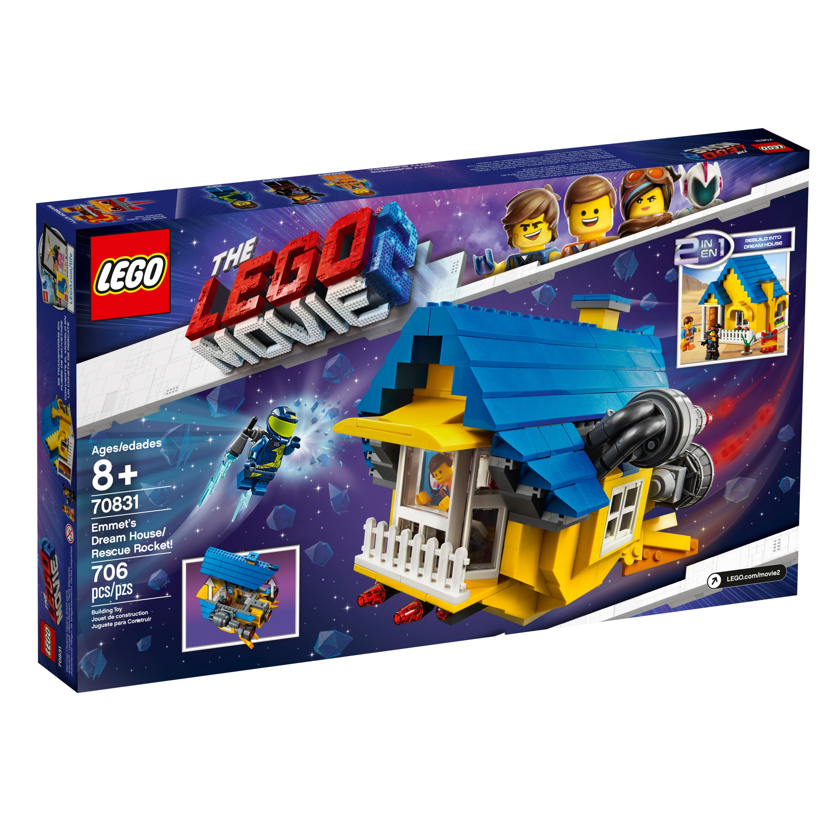 LEGO The LEGO Movie 70831 Emmets Traumhaus/Rettungsrakete! LEGO_70831_alt2.jpg