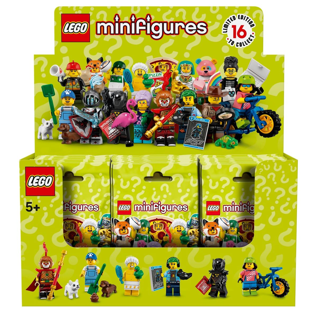 LEGO Collectable Minifigures 66605 LEGO® Minifiguren Serie 19 60er Box 71025