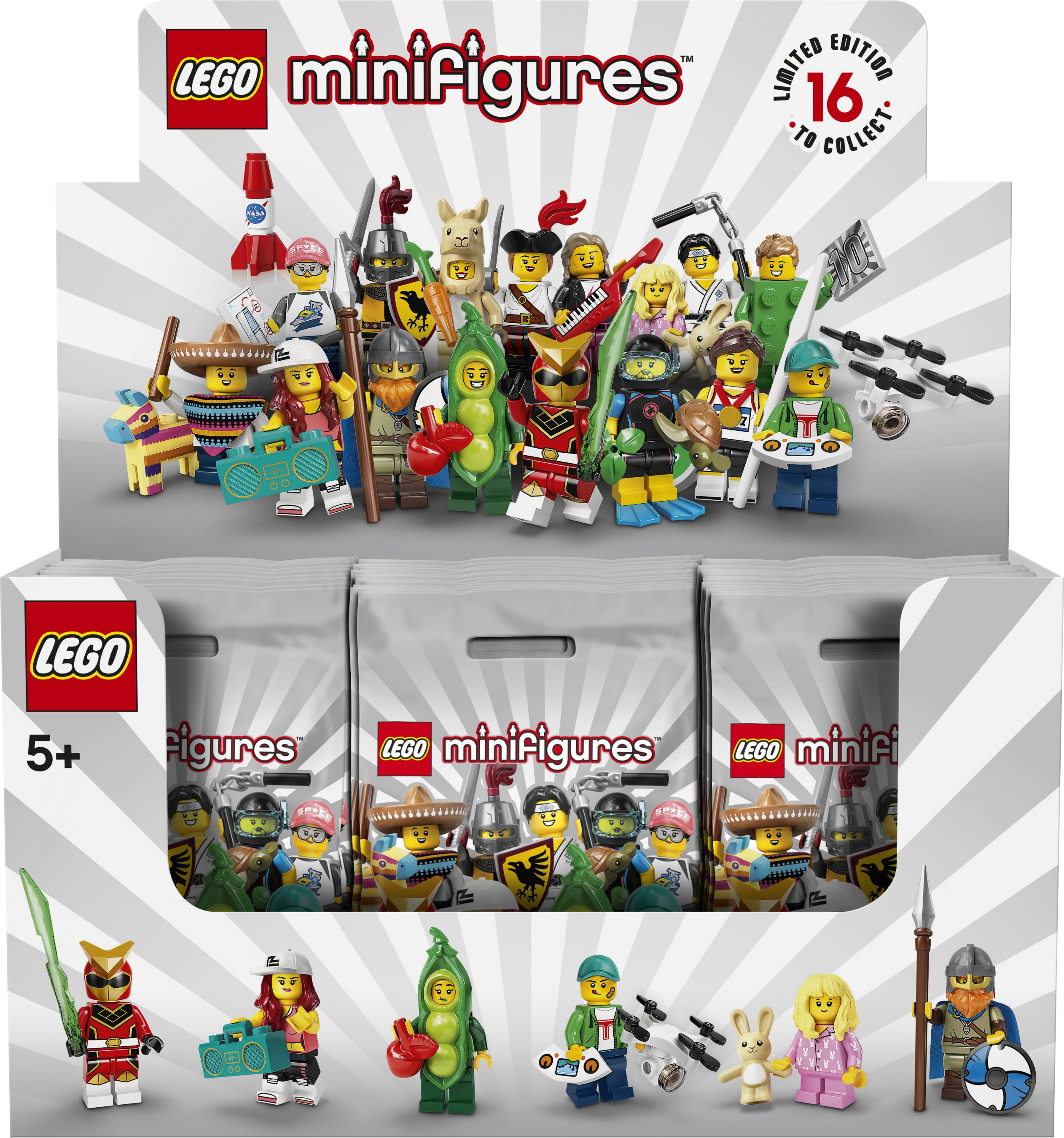 LEGO Collectable Minifigures 71027 LEGO® Minifiguren Serie 20 LEGO_71027_display_front.jpg