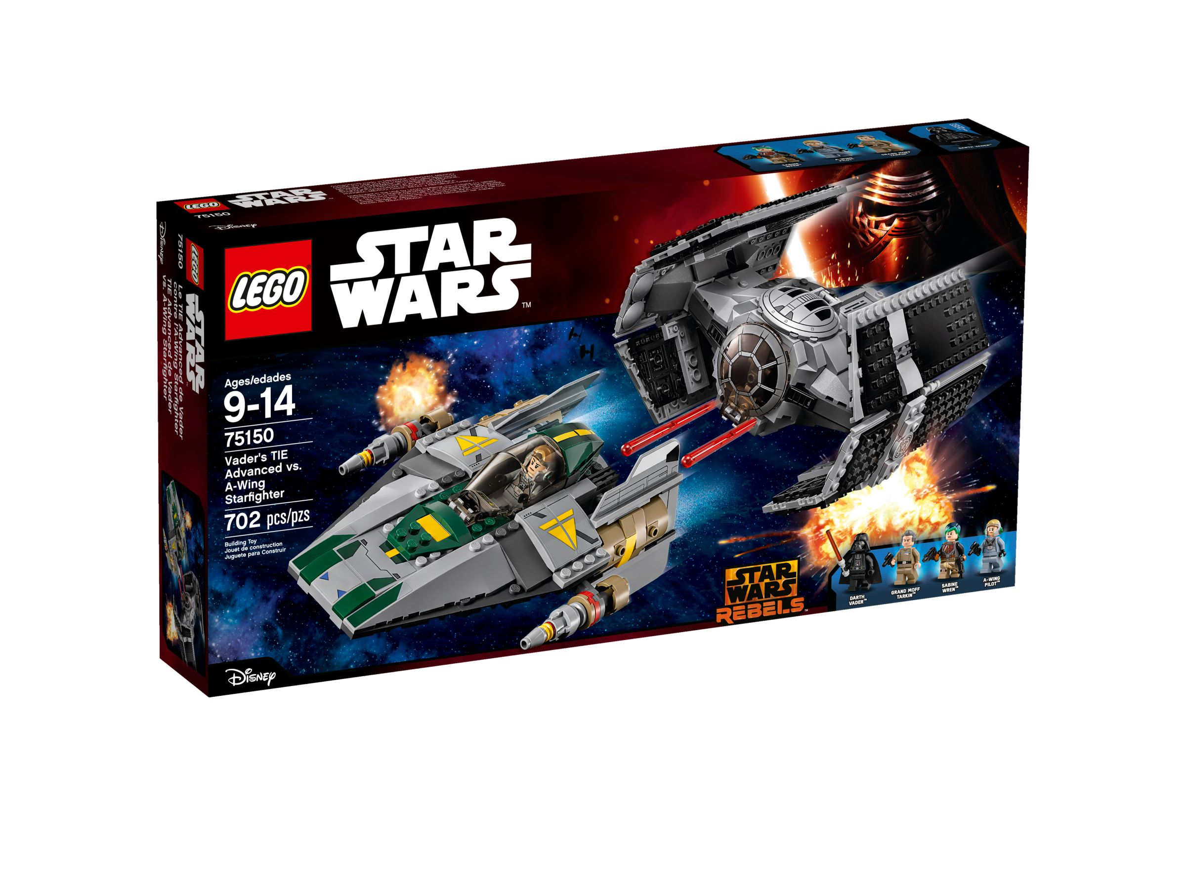 LEGO Star Wars 75150 Vader's TIE Advanced vs. A-Wing Starfighter LEGO_75150_alt1.jpg