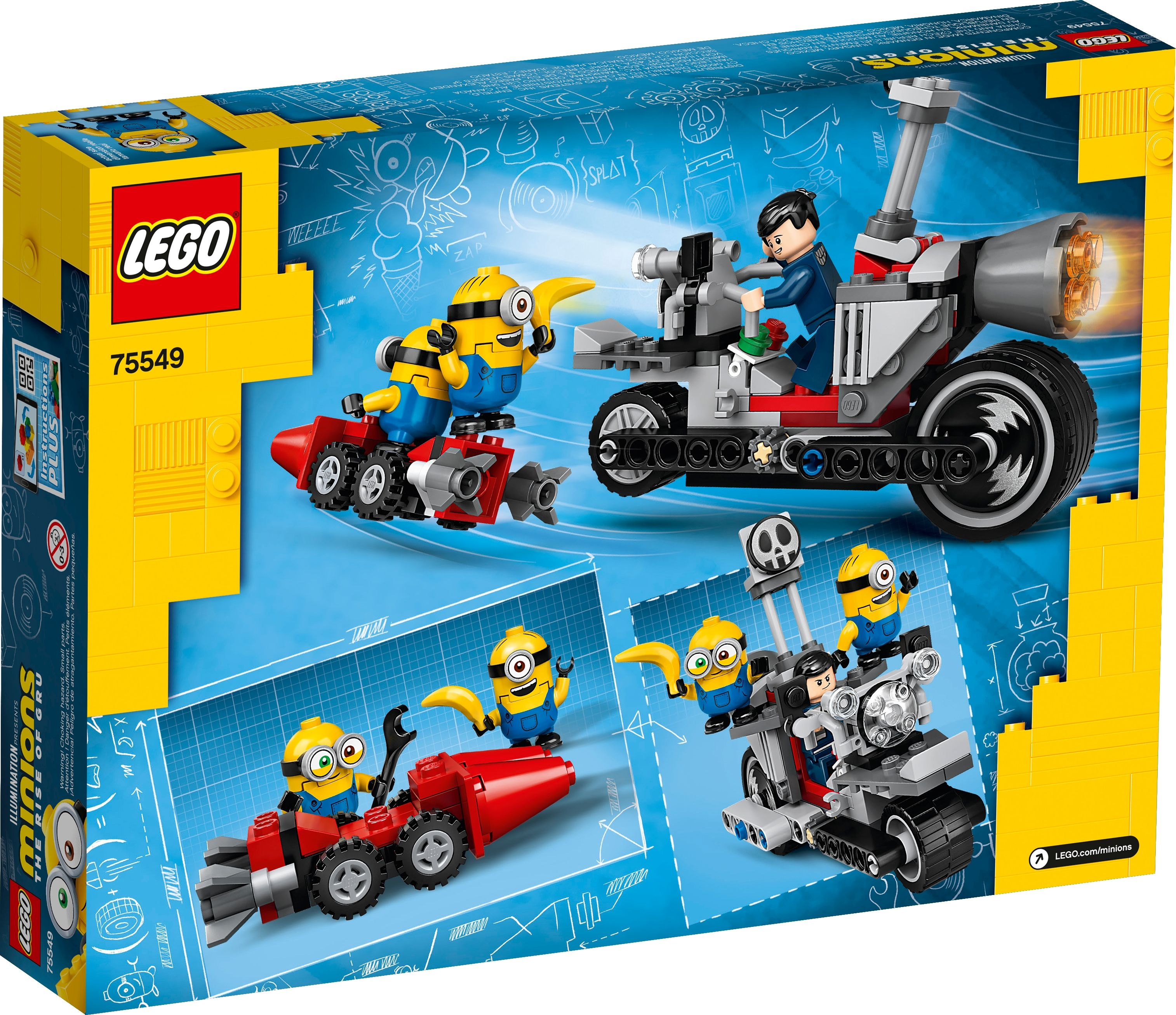 LEGO® Minions The Rise of Gru 75549 Unaufhaltsame Motorrad-Jagd