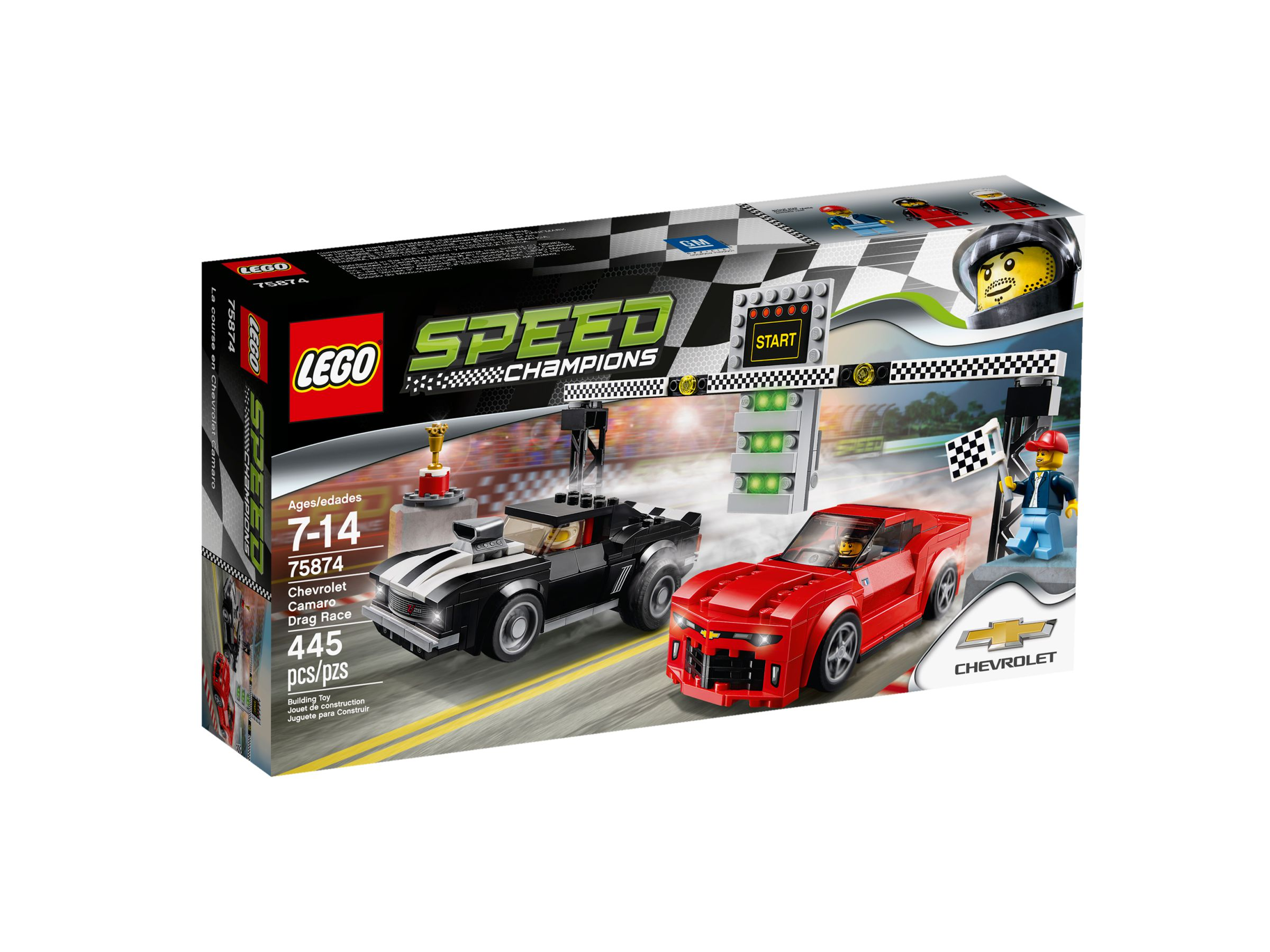 lego 75874 chevrolet camaro drag race speed champions 2016 brickmerge. Black Bedroom Furniture Sets. Home Design Ideas