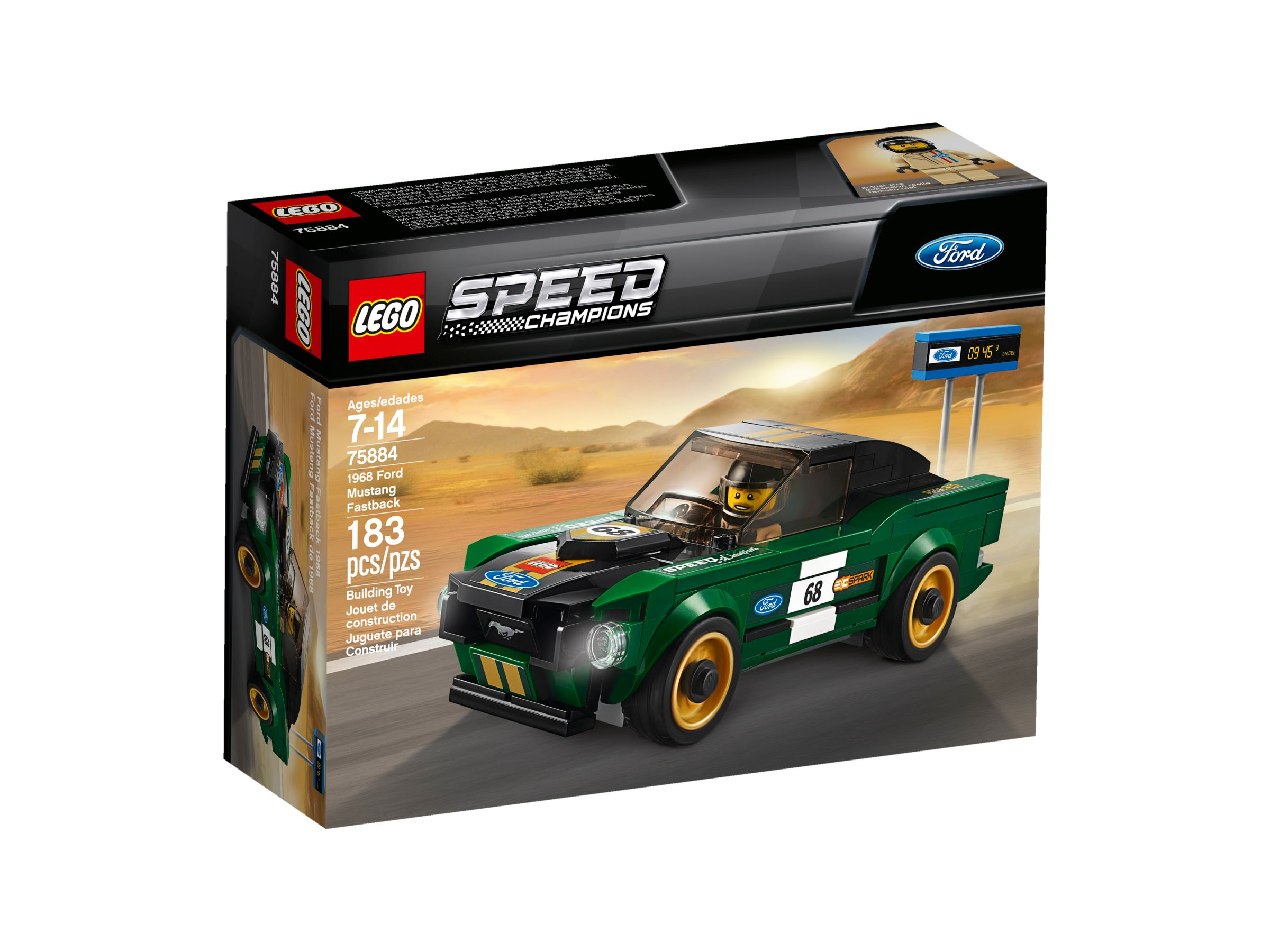 LEGO Speed Champions 75884 Ford Mustang Fastback 1968 LEGO_75884_alt1.jpg