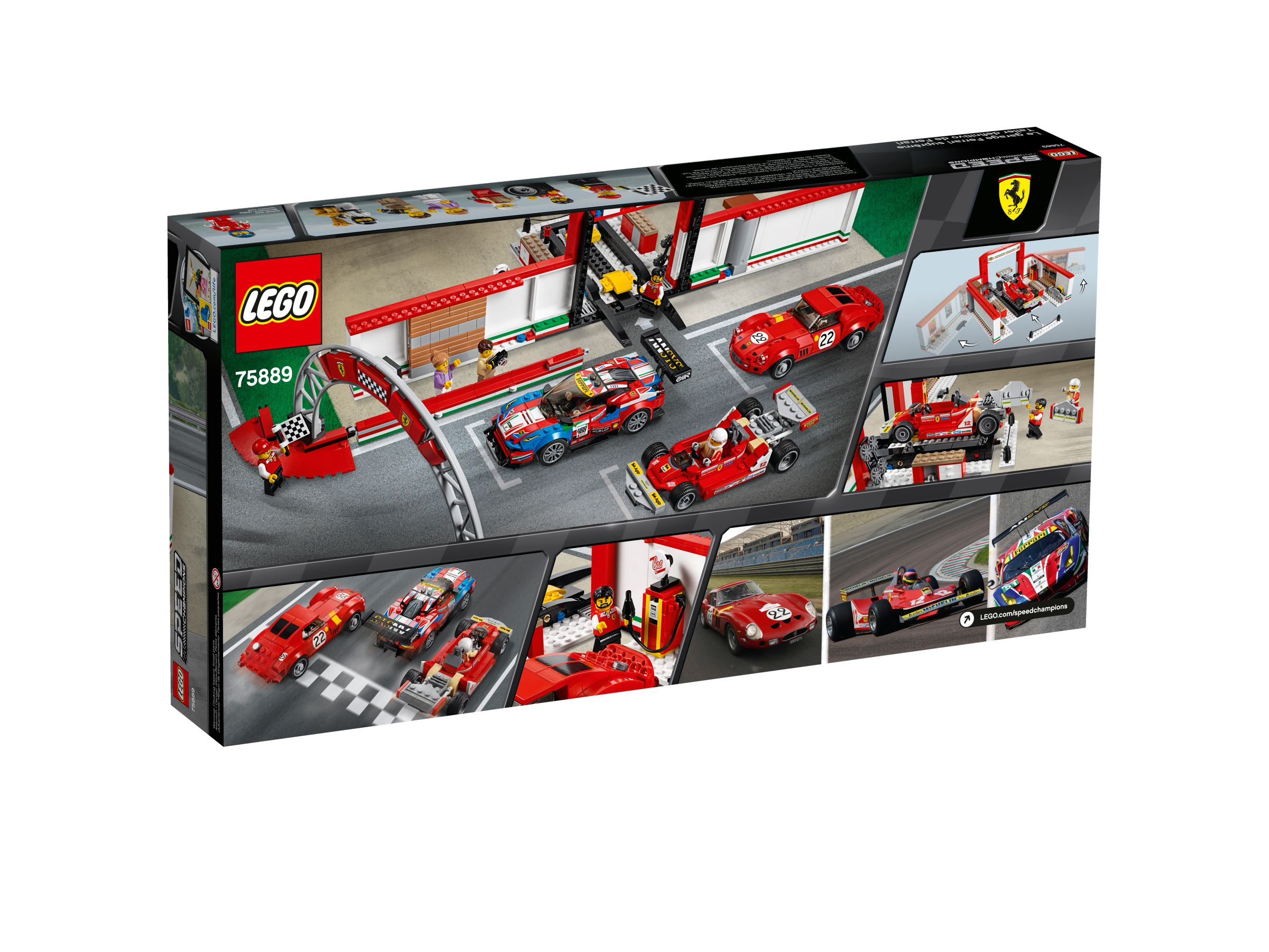 lego 75889 ferrari garage ferrari 250 gto ferrari 488 gt speed champions 2018 ab 72 97. Black Bedroom Furniture Sets. Home Design Ideas