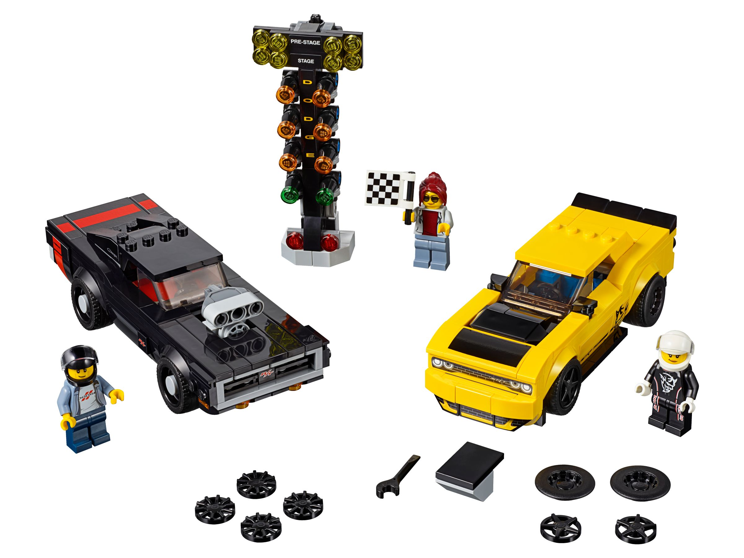 LEGO Speed Champions 75893 2018 Dodge Challenger SRT Demon und 1970 Dodge Charger R/T
