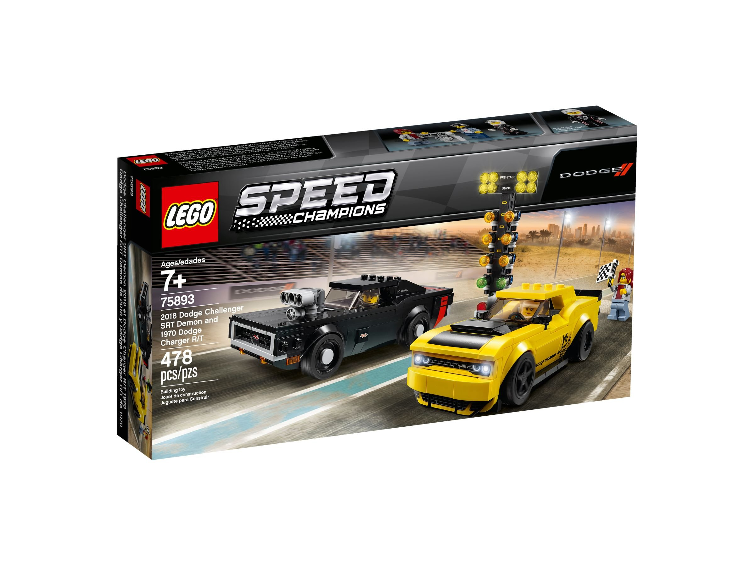 LEGO Speed Champions 75893 2018 Dodge Challenger SRT Demon und 1970 Dodge Charger R/T LEGO_75893_alt1.jpg