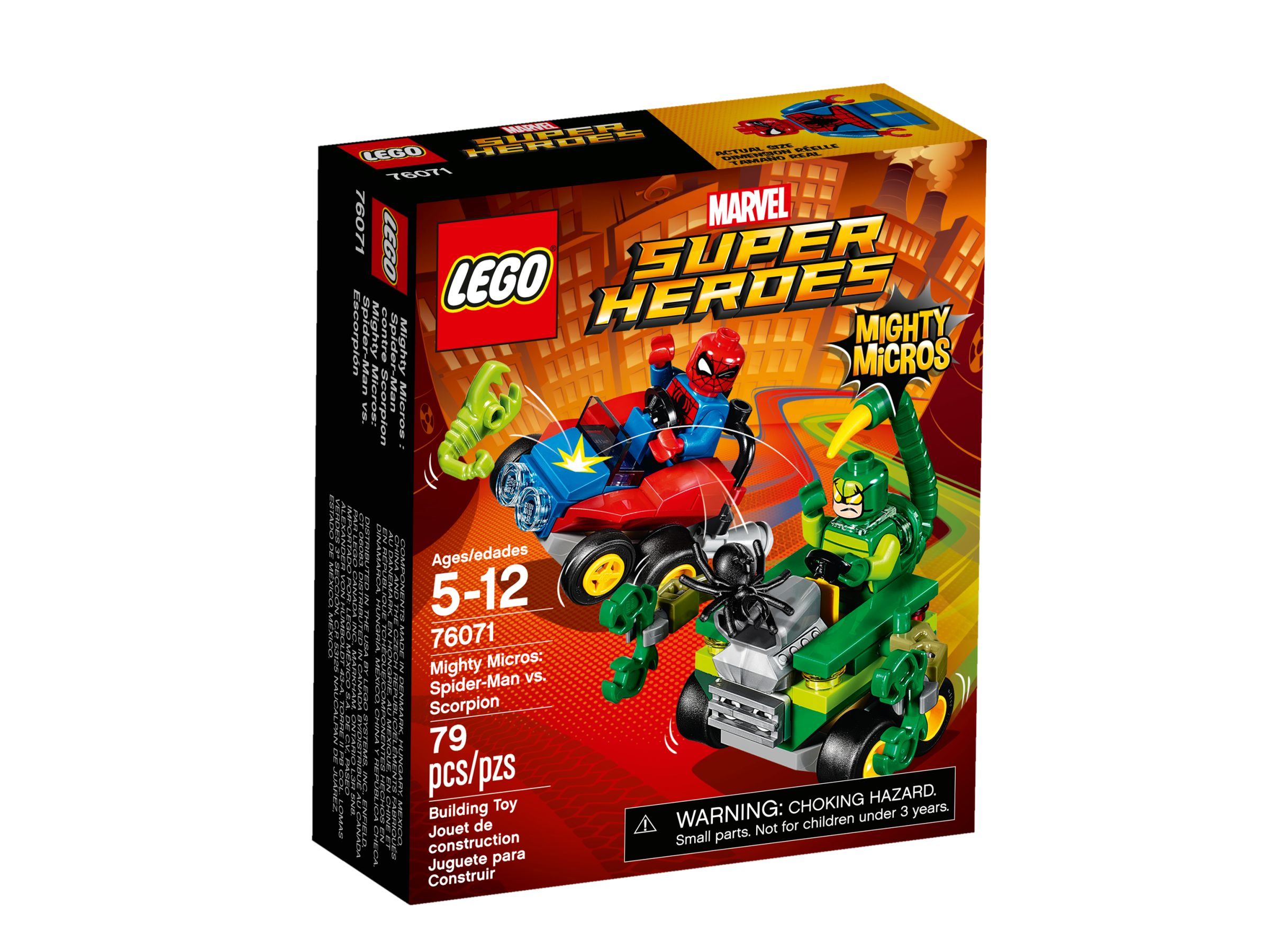 LEGO Super Heroes 76071 Mighty Micros: Spider-Man vs. Scorpion LEGO_76071_alt1.jpg