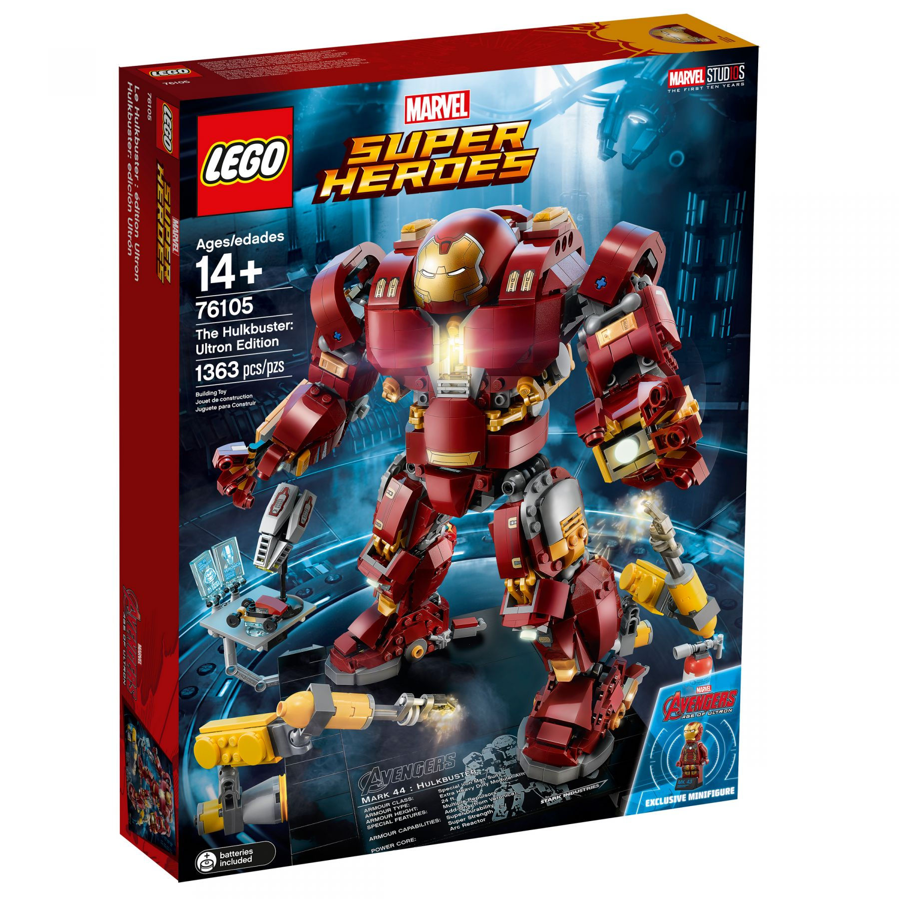 LEGO Super Heroes 76105 Marvel Avengers: Infinity War - The Hulkbuster: Ultron Edition LEGO_76105_alt1.jpg